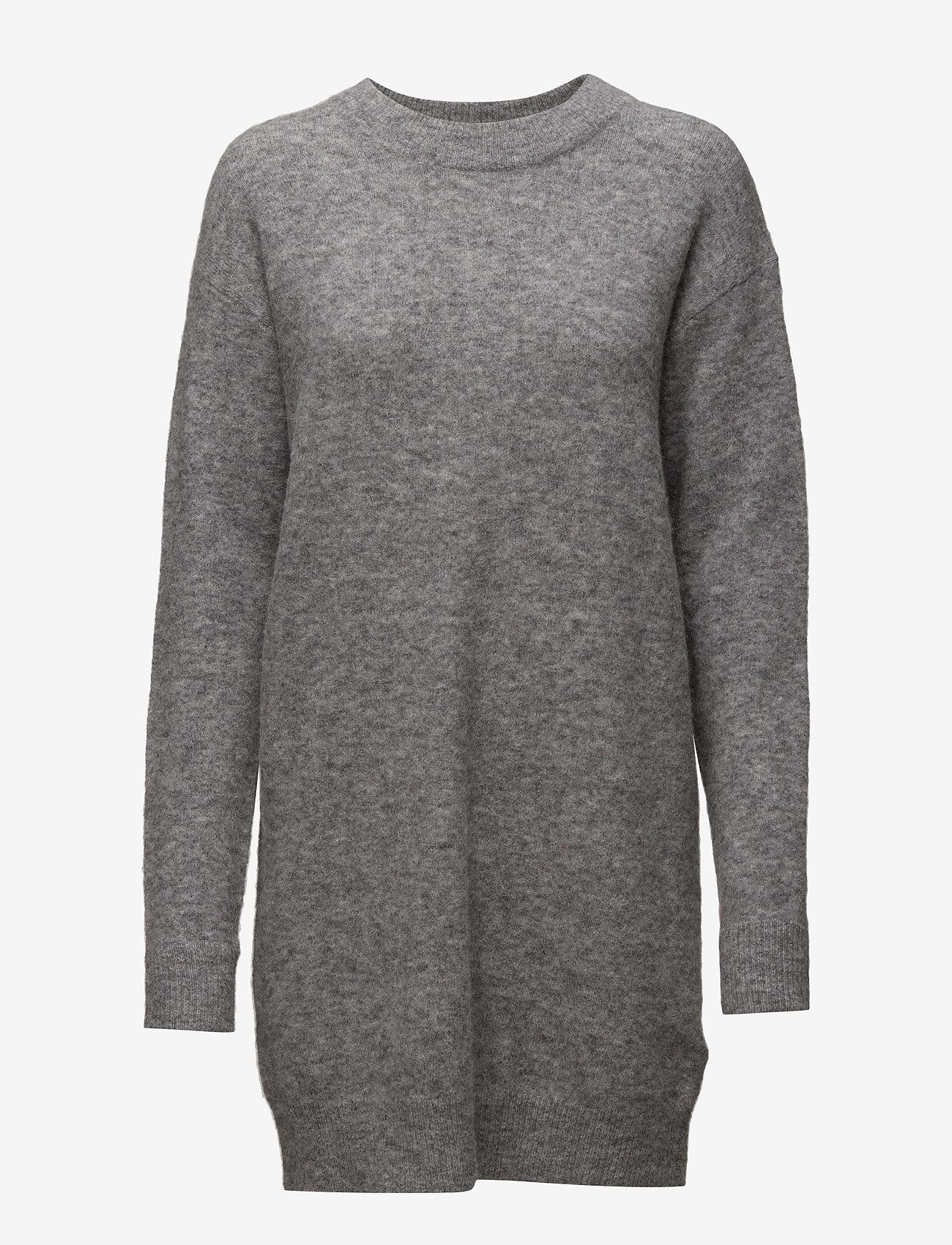 Samsøe Samsøe - Nor o-n dress 7355 - stickade klänningar - grey mel. - 0