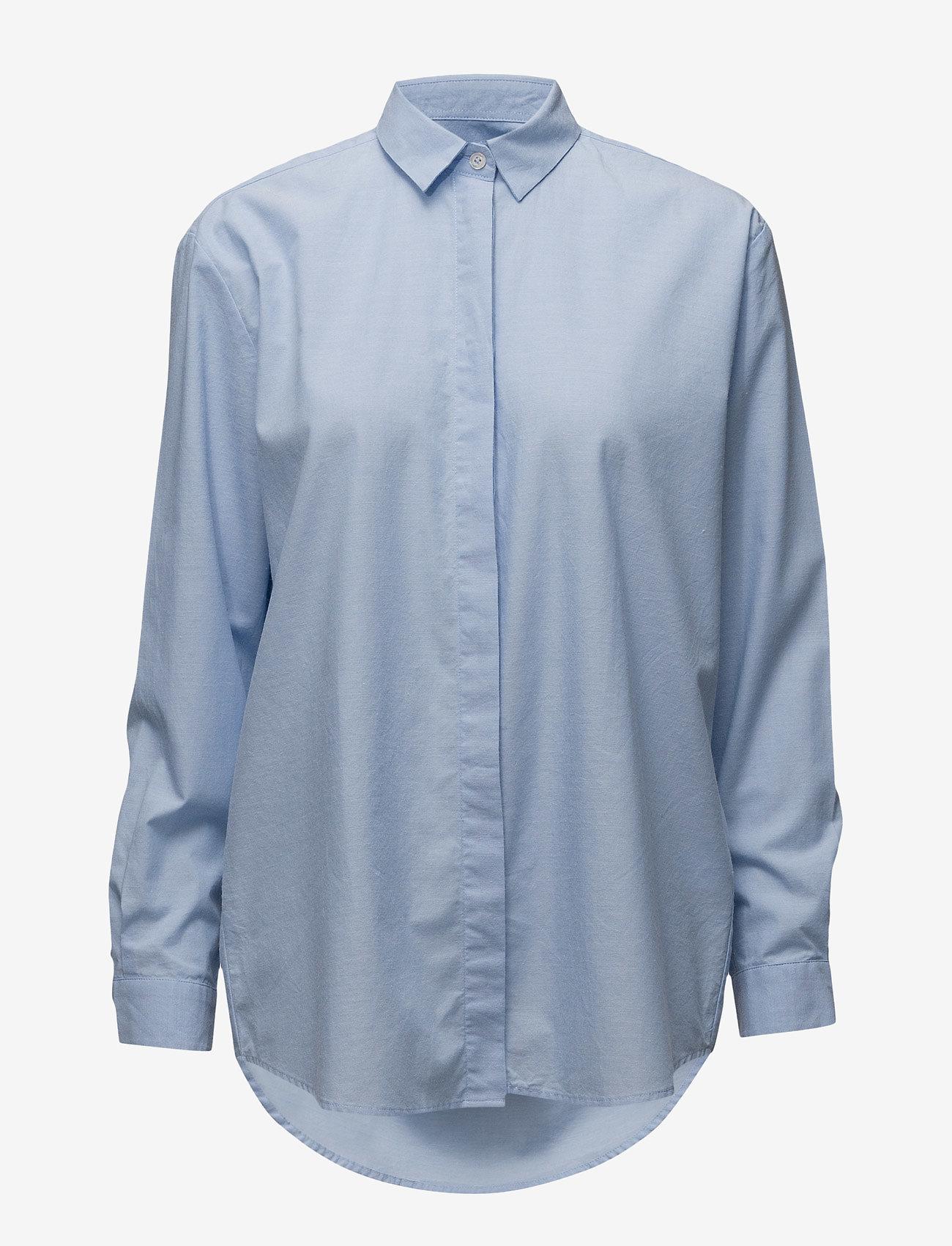 Samsøe Samsøe - Caico shirt 6135 - långärmade skjortor - 6135 oxford blue - 0