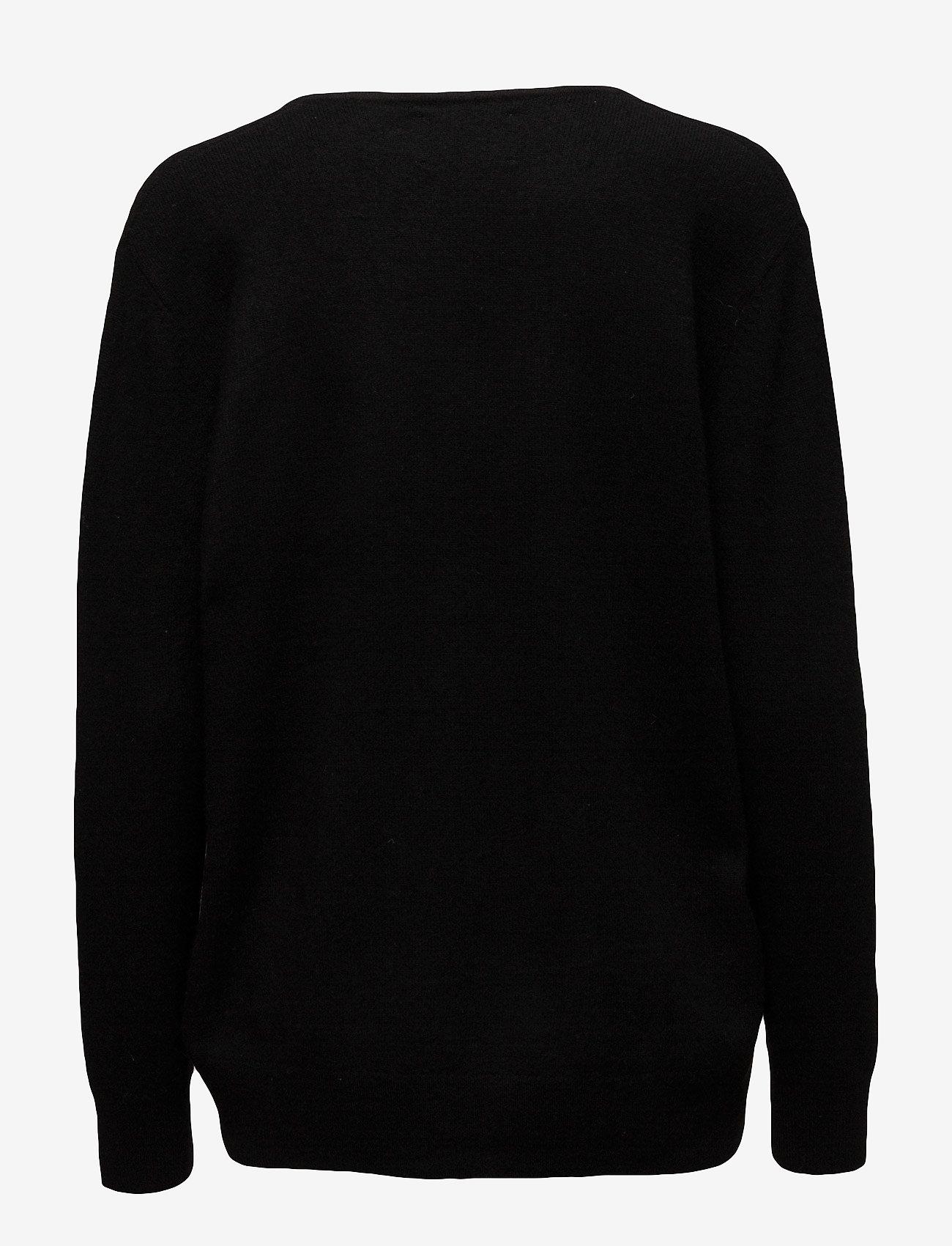 Samsøe Samsøe - Boston v-neck 6304 - džemperi - black - 1