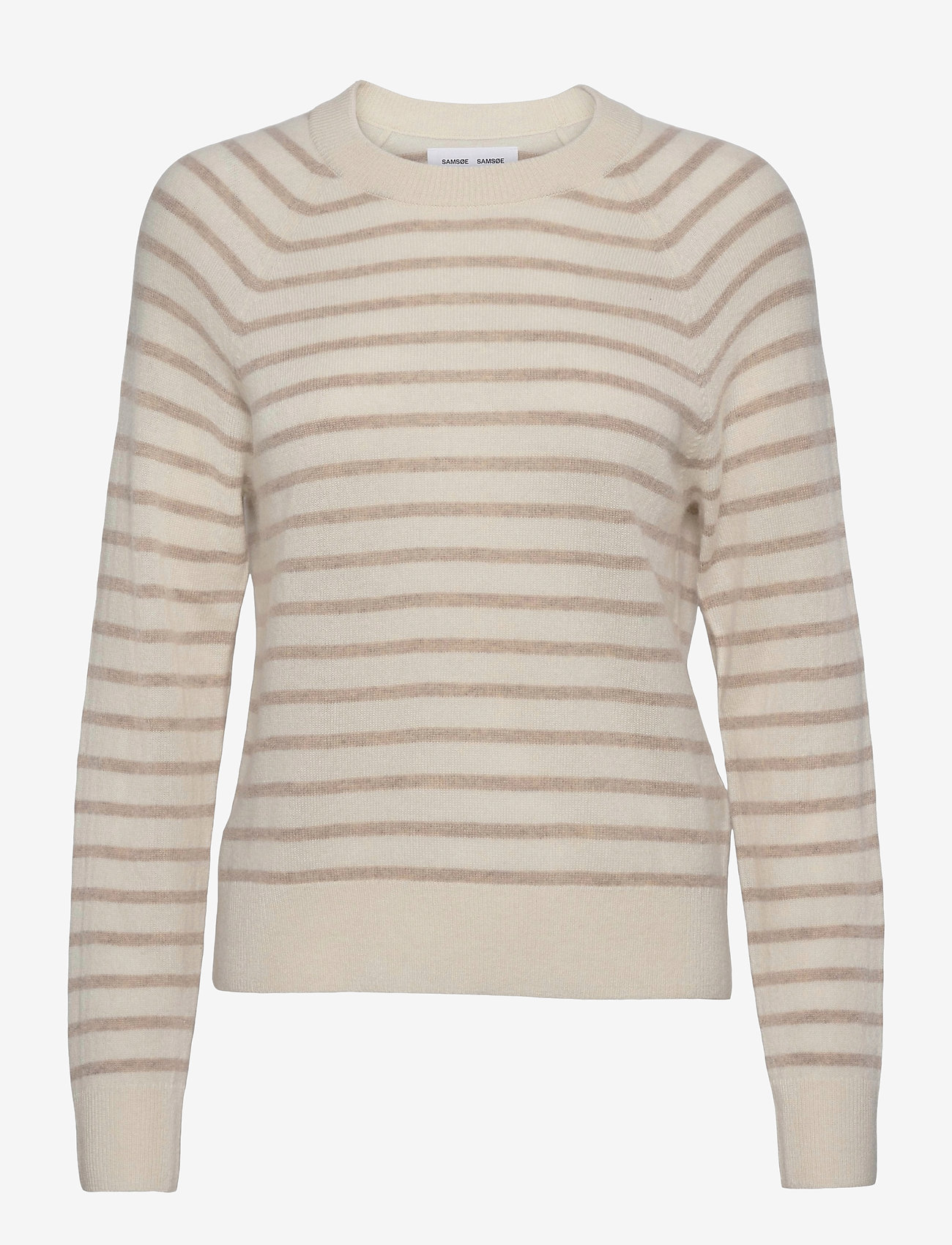 Samsøe Samsøe - Boston o-neck stripe 6304 - džemperi - whisper white st - 1