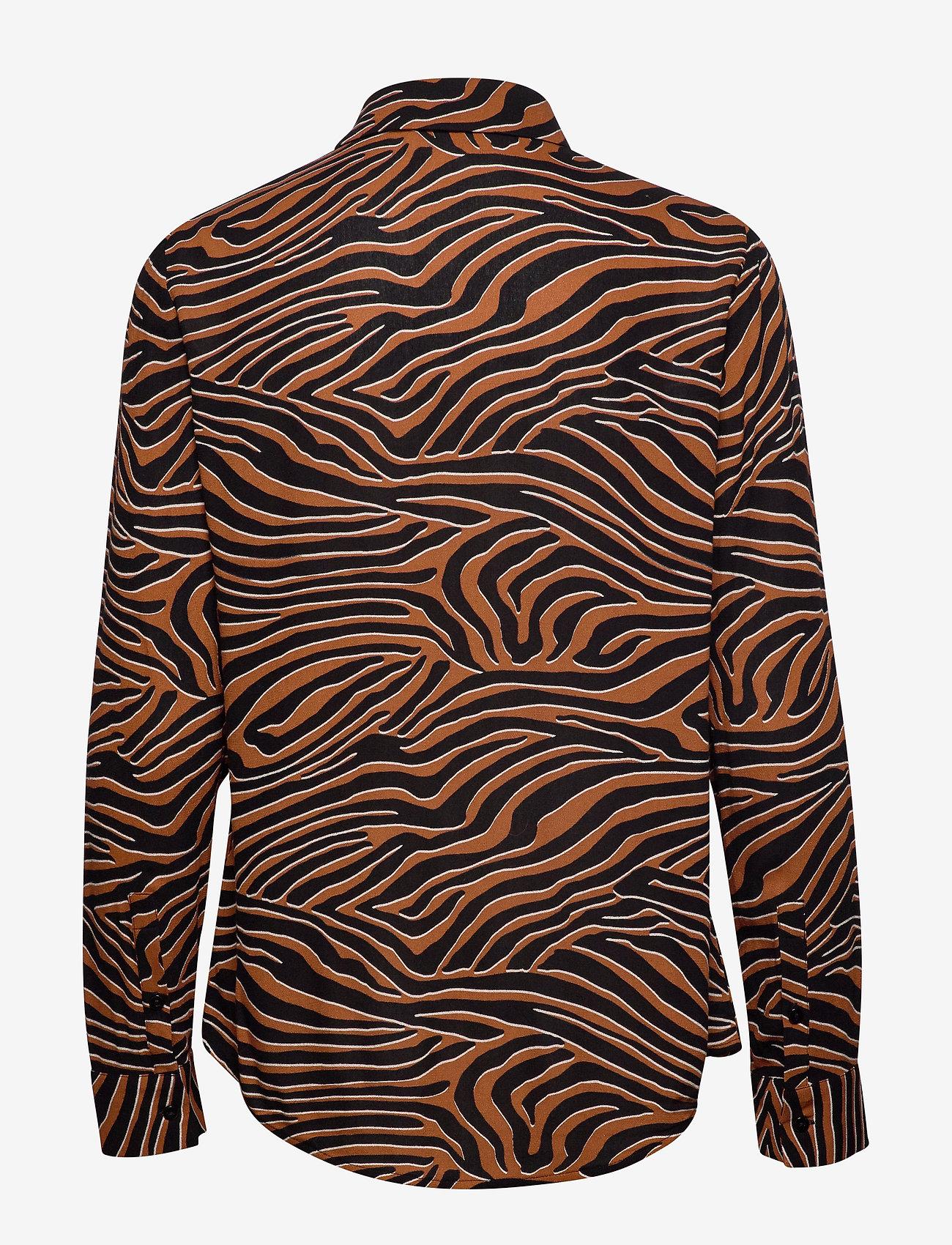 Samsøe Samsøe Milly shirt aop 7201 - Bluzki & Koszule ARGAN MOONSCAPE - Kobiety Odzież.