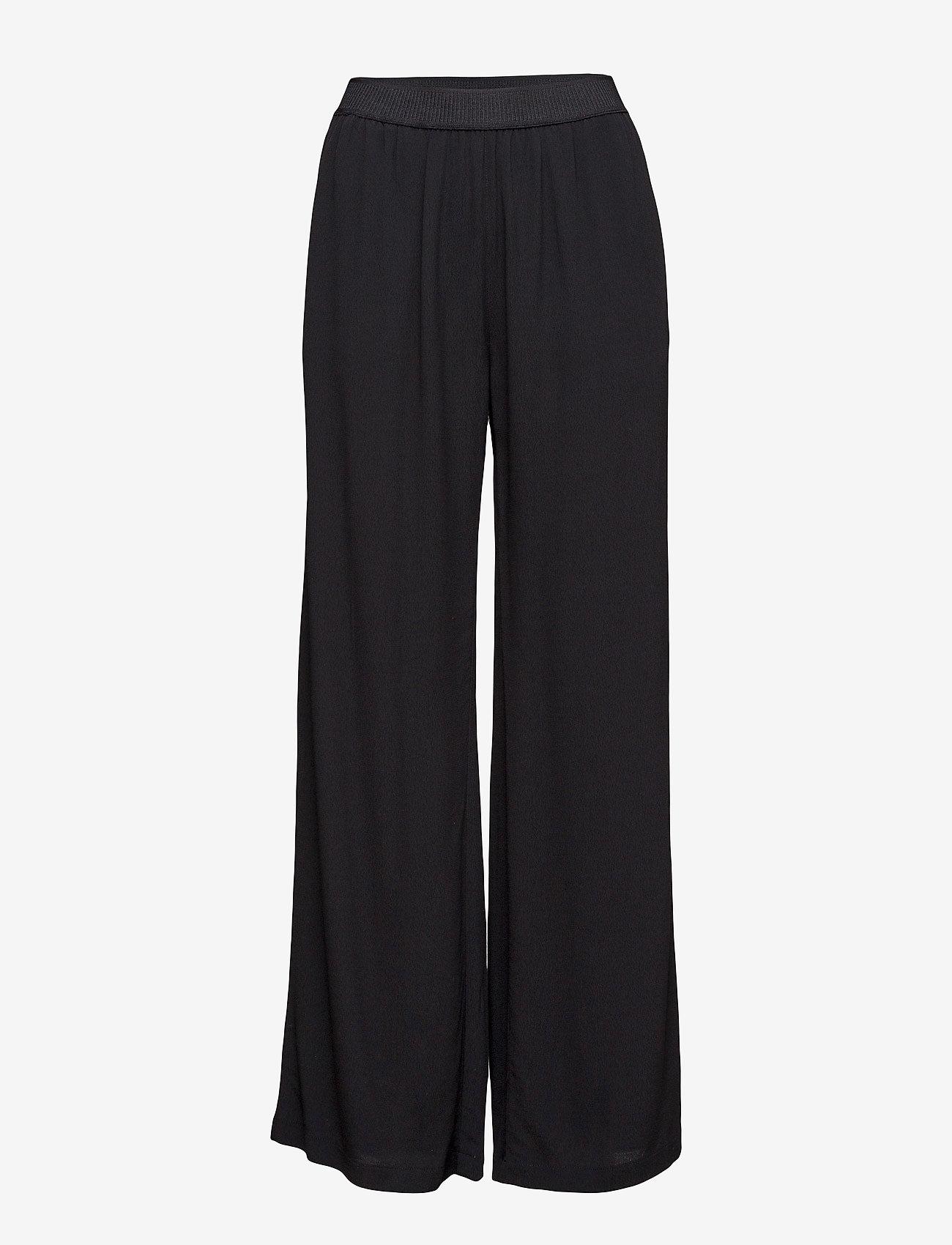 Samsøe Samsøe - Nessie pants 6515 - bukser med brede ben - black - 1