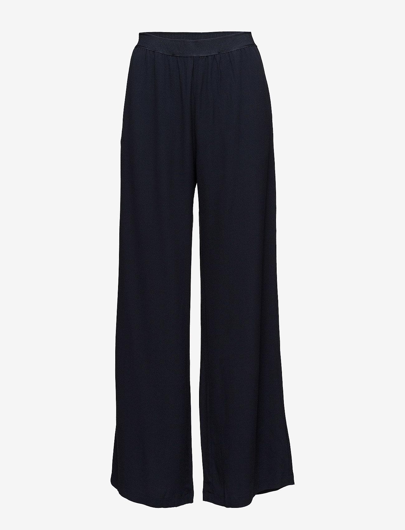 Samsøe Samsøe - Nessie pants 6515 - bukser med brede ben - dark sapphire - 0