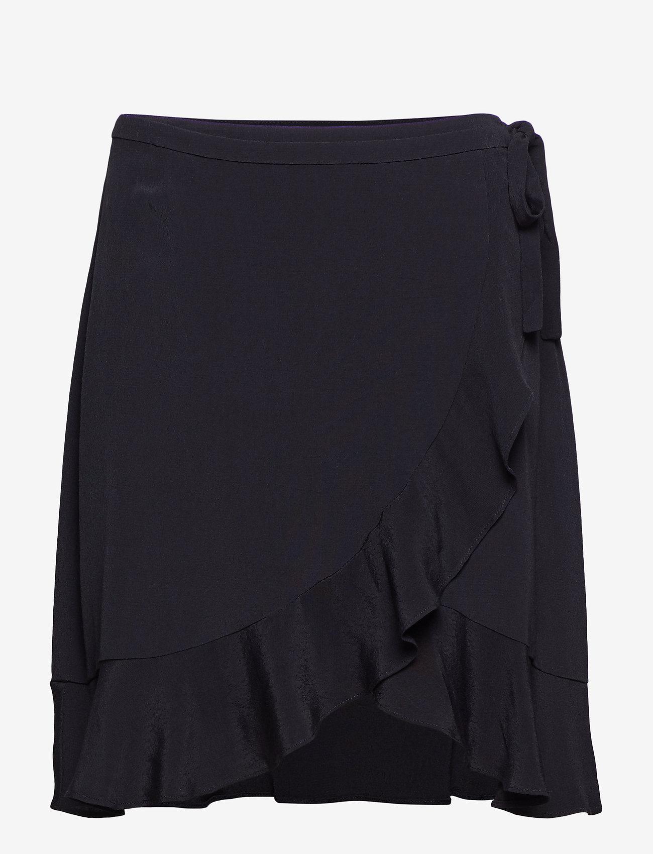 Samsøe Samsøe - Limon s wrap skirt 6515 - lyhyet - black