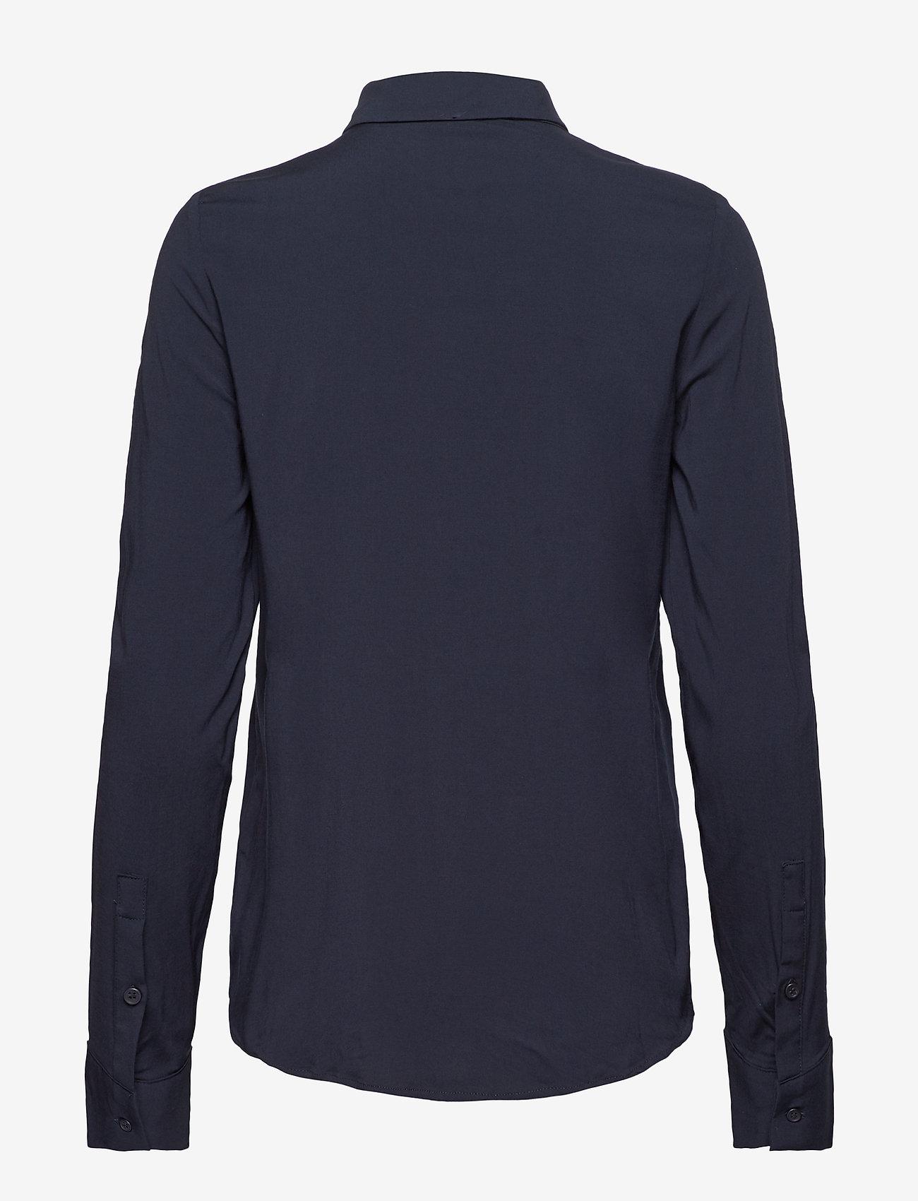Samsøe Samsøe - Milly np shirt 9942 - pitkähihaiset paidat - dark sapphire