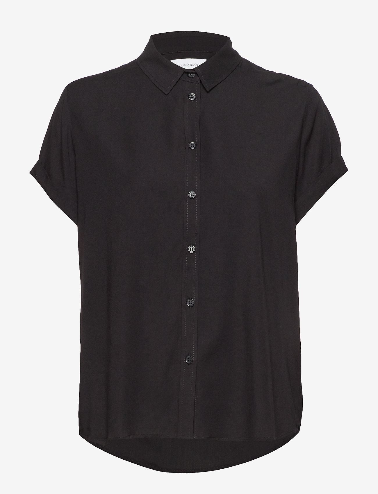 Samsøe Samsøe - Majan ss shirt 9942 - overhemden met korte mouwen - black - 0