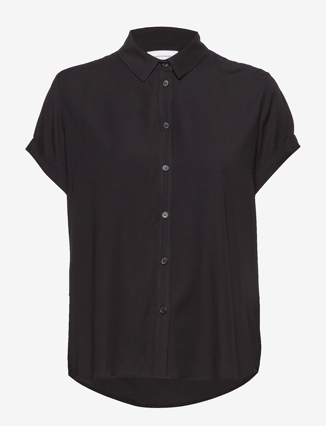 Samsøe Samsøe - Majan ss shirt 9942 - kortärmade skjortor - black - 0