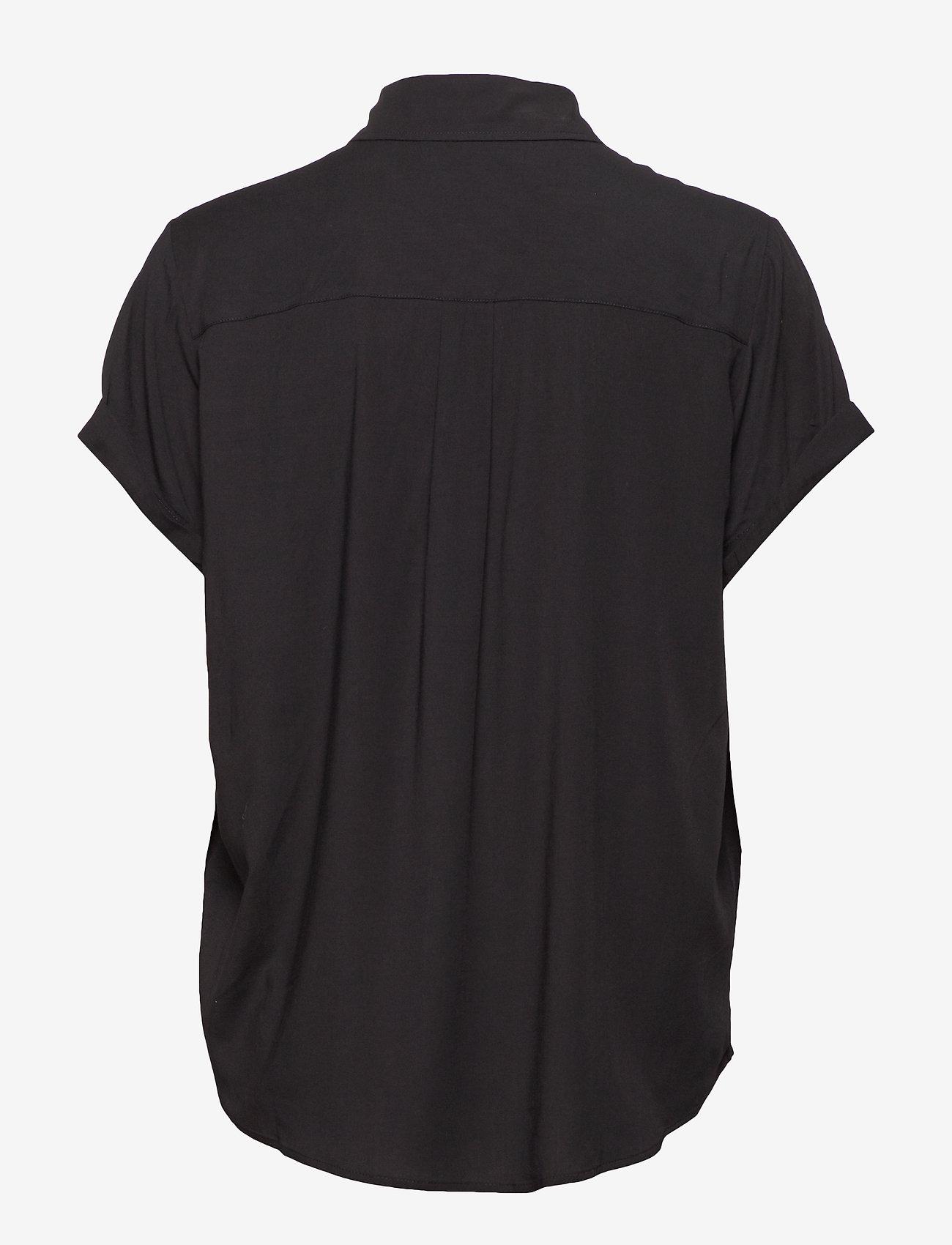 Samsøe Samsøe - Majan ss shirt 9942 - kortärmade skjortor - black - 1