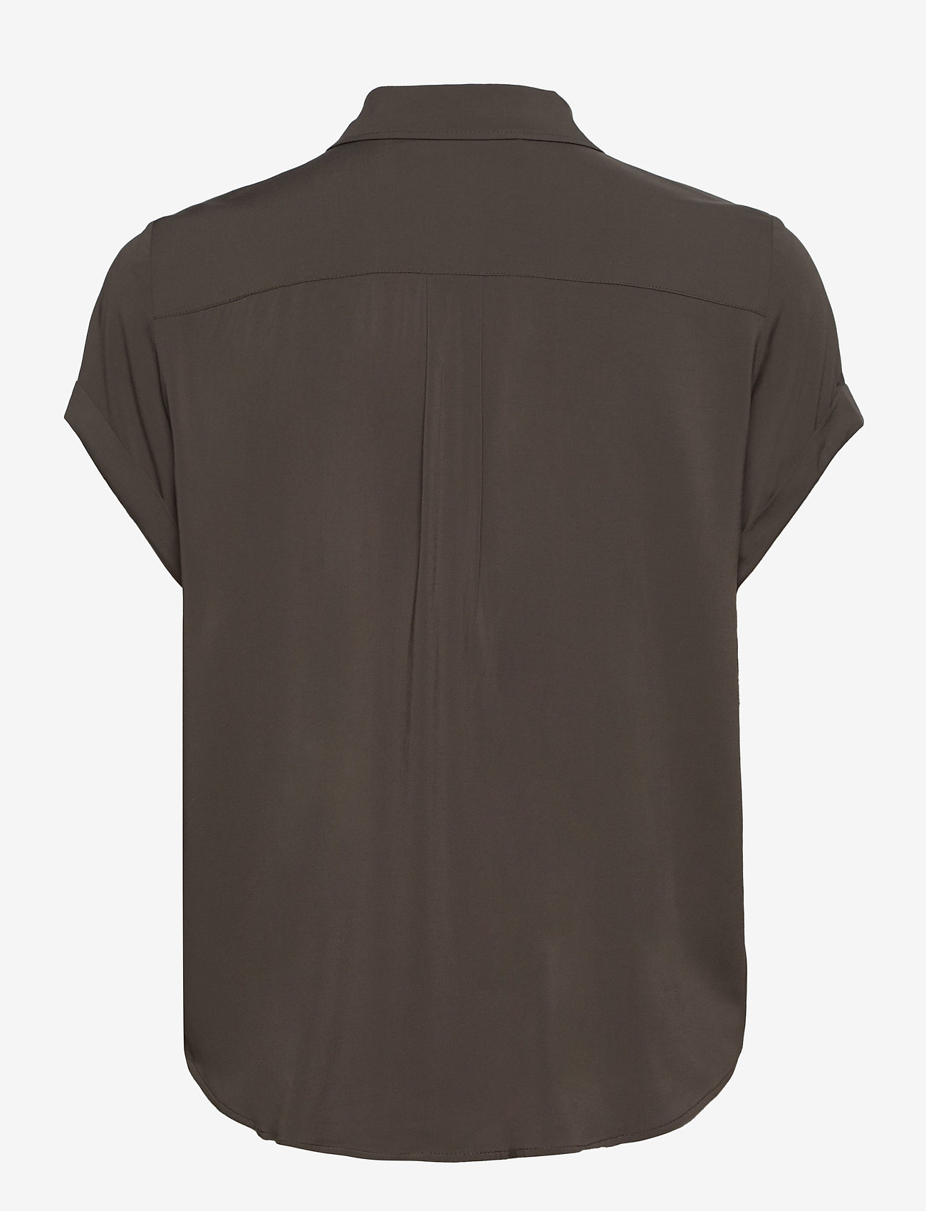 Samsøe Samsøe - Majan ss shirt 9942 - kortærmede skjorter - black olive - 1