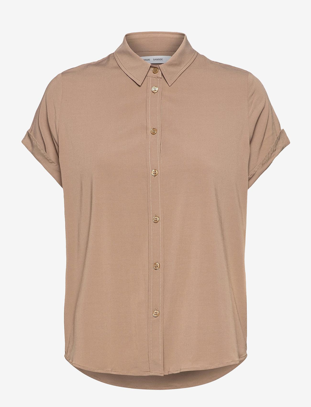 Samsøe Samsøe - Majan ss shirt 9942 - overhemden met korte mouwen - caribou - 0