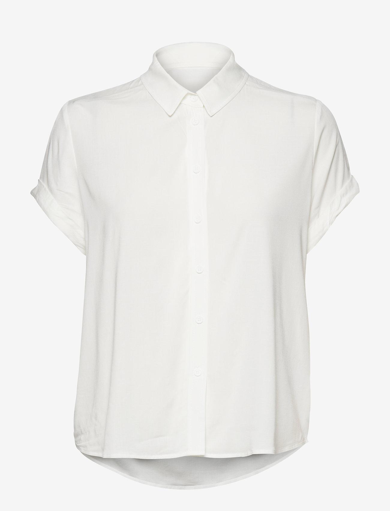 Samsøe Samsøe - Majan ss shirt 9942 - kortärmade skjortor - clear cream - 1