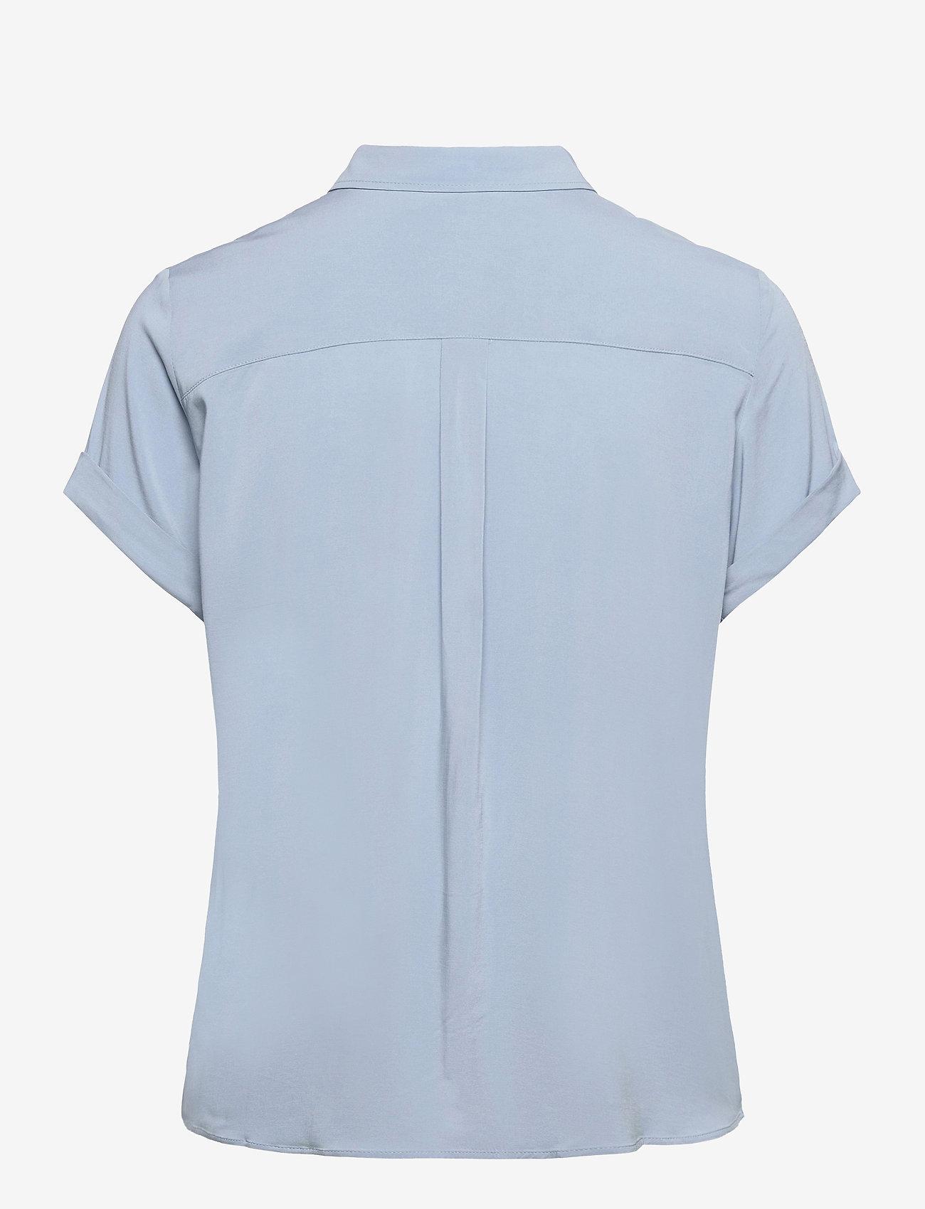 Samsøe Samsøe - Majan ss shirt 9942 - kortärmade skjortor - dusty blue - 1