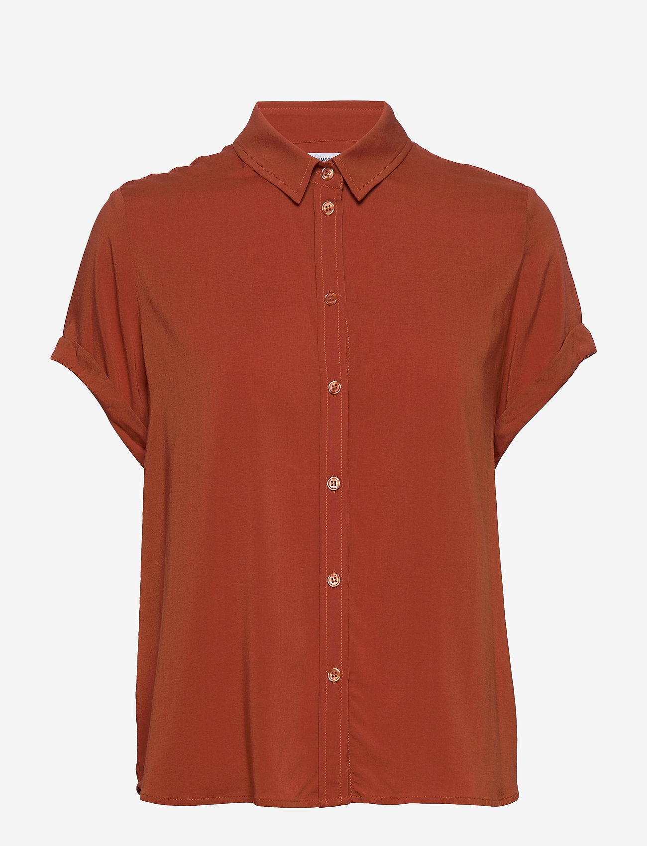 Samsøe Samsøe - Majan ss shirt 9942 - bluzki krotkim rekawem - picante