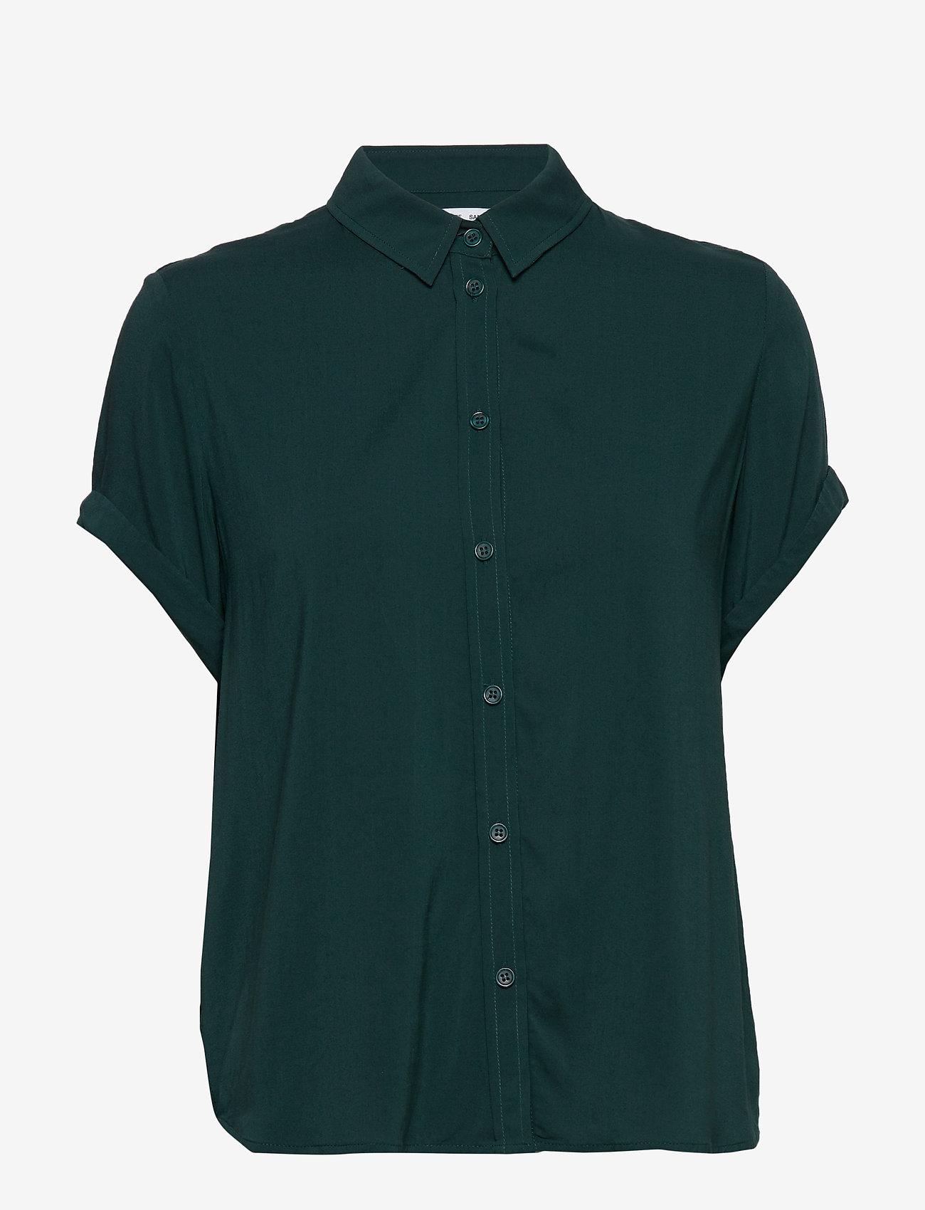 Samsøe Samsøe - Majan ss shirt 9942 - kortærmede skjorter - sea moss - 0