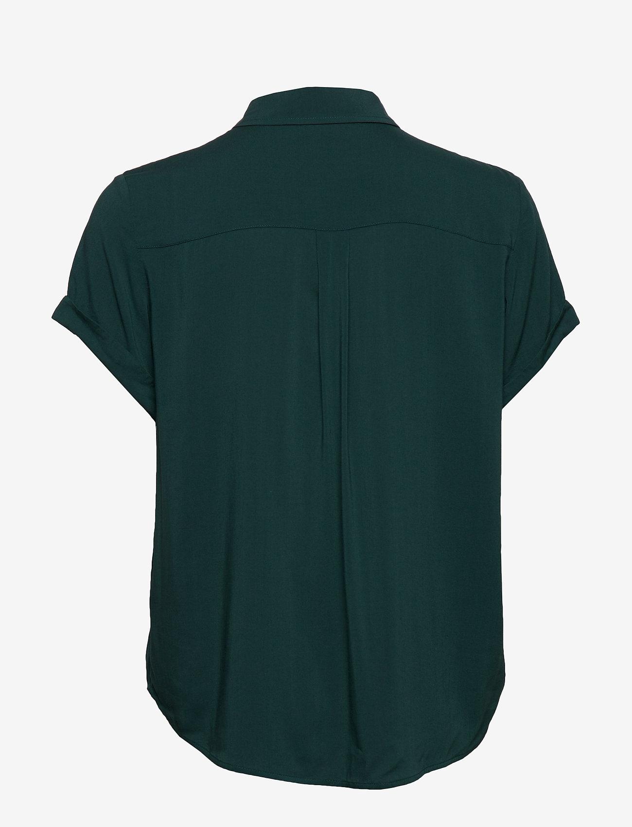 Samsøe Samsøe - Majan ss shirt 9942 - overhemden met korte mouwen - sea moss - 1