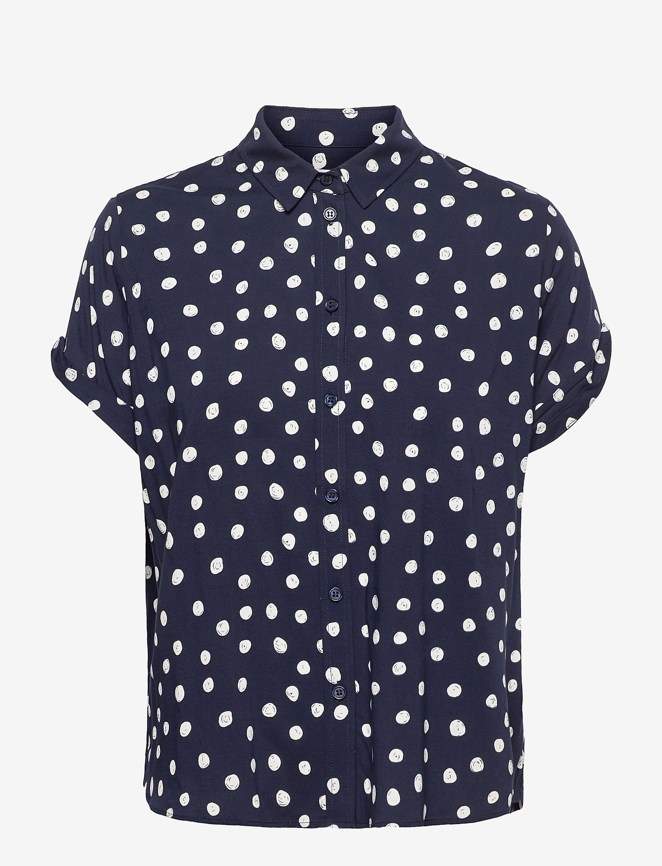 Samsøe Samsøe - Majan ss shirt aop 9942 - kortærmede skjorter - blue doodle dot - 0
