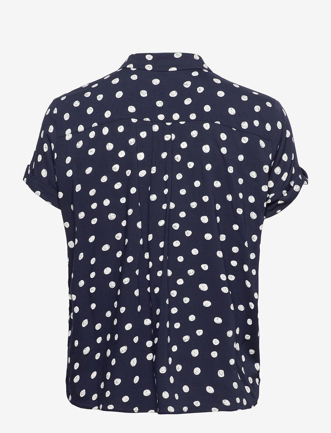 Samsøe Samsøe - Majan ss shirt aop 9942 - kortærmede skjorter - blue doodle dot - 1