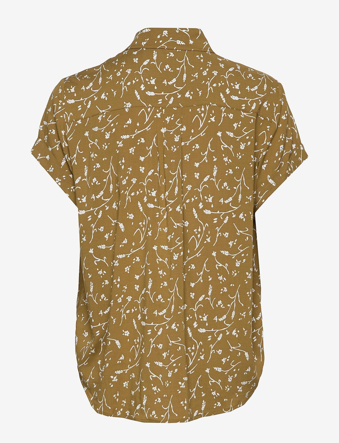 Samsøe Samsøe - Majan ss shirt aop 9942 - kortermede skjorter - feuilles khaki