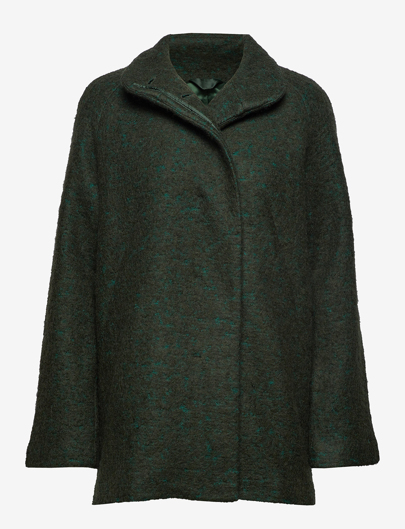 Samsøe Samsøe - Helle jacket 6182 - wełniane kurtki - shady glade mel. - 0