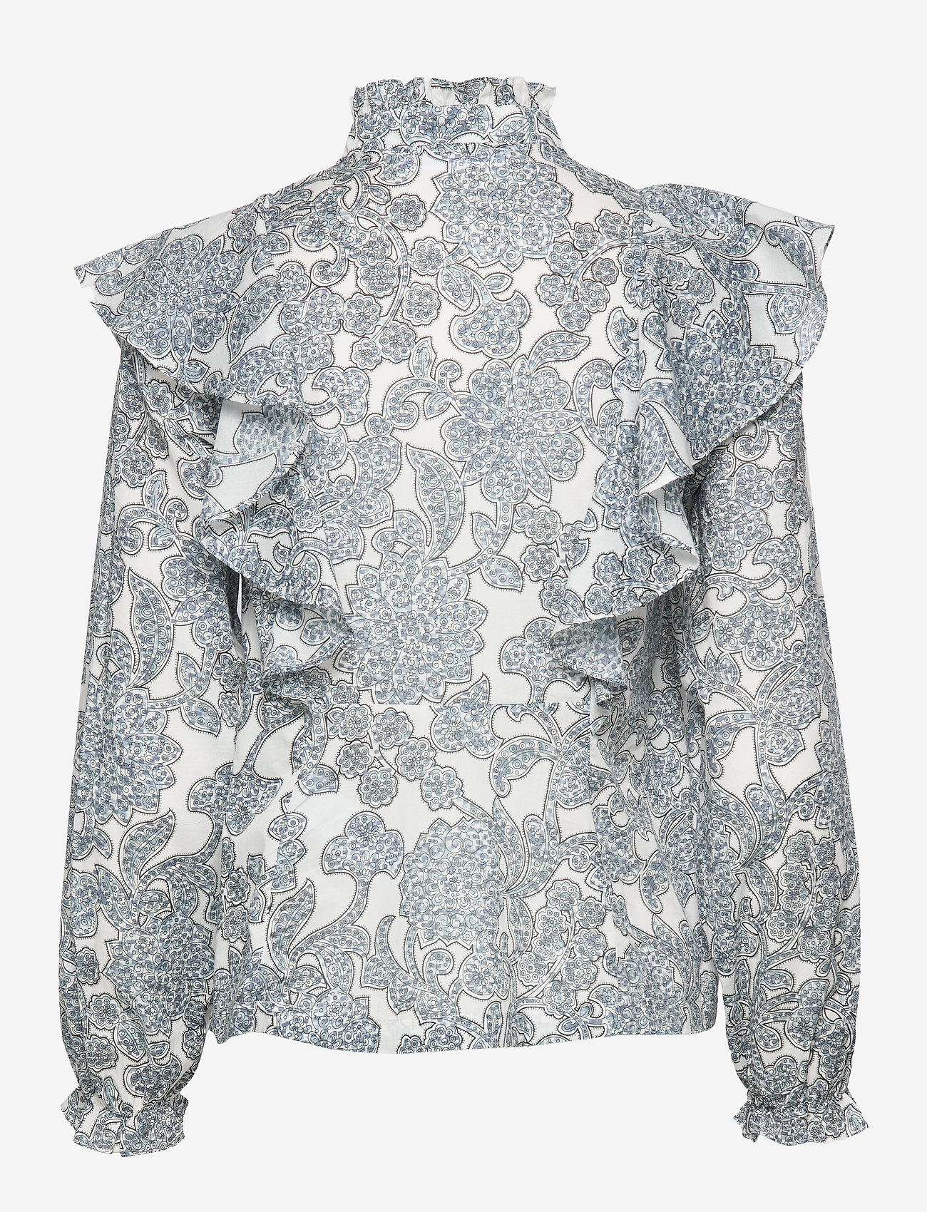 Samsøe Samsøe - Martha shirt aop 11159 - långärmade blusar - tapestry - 1