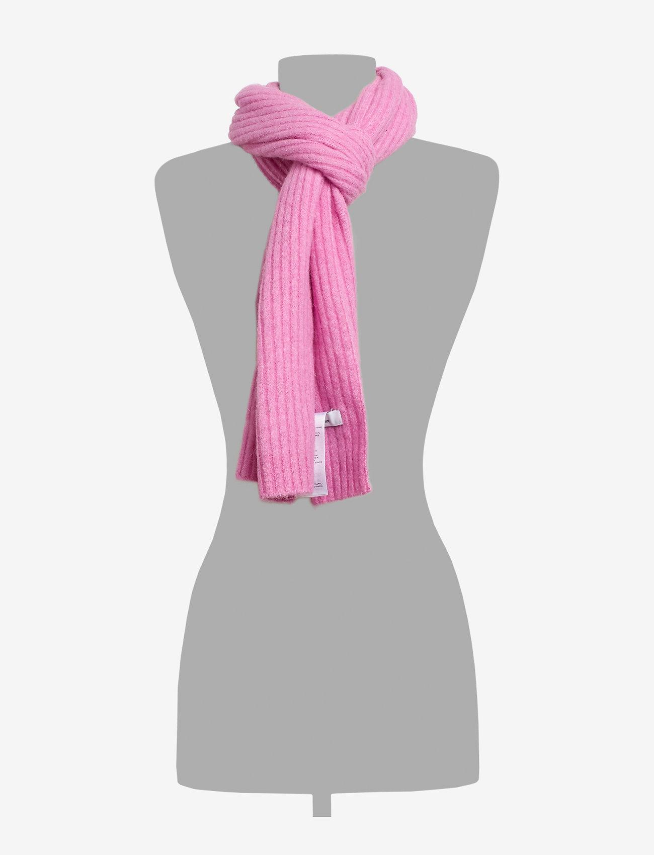 Samsøe Samsøe Nori scarf slim 7355 - Szaliki i chusty BUBBLE GUM PINK MEL. - Akcesoria