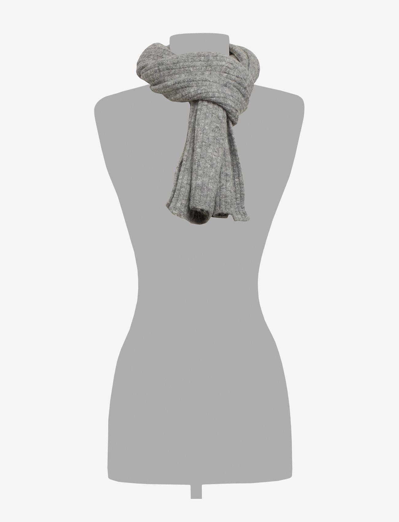 Samsøe Samsøe Nori scarf slim 7355 - Szaliki i chusty GREY MEL. - Akcesoria
