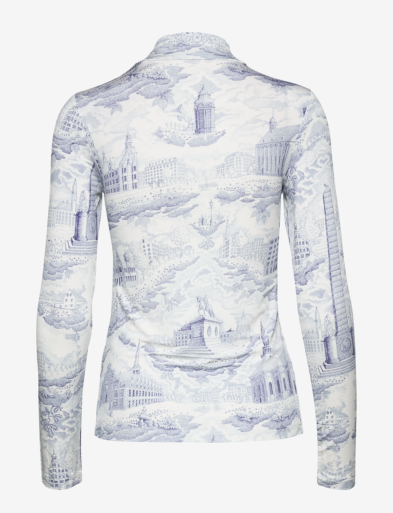 Samsøe Samsøe Elsi t-n t-shirt ls aop 10908 - T-shirty i zopy CITY OF TOWERS - Kobiety Odzież.