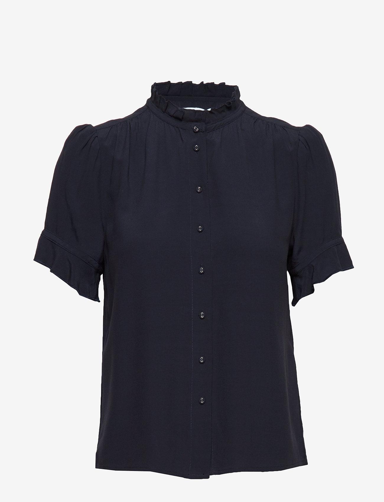 Samsøe Samsøe - Rosella shirt 10864 - kortärmade blusar - night sky - 0