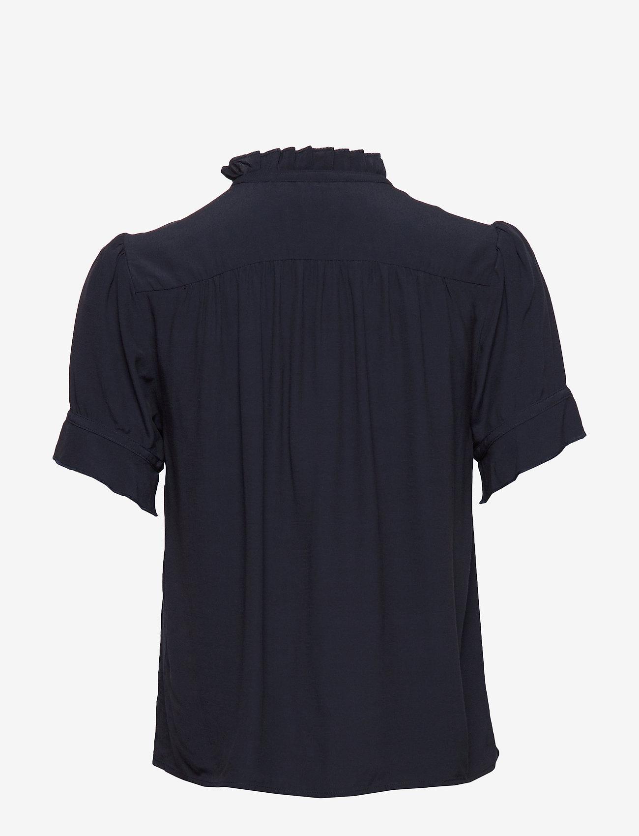 Samsøe Samsøe - Rosella shirt 10864 - kortärmade blusar - night sky - 1