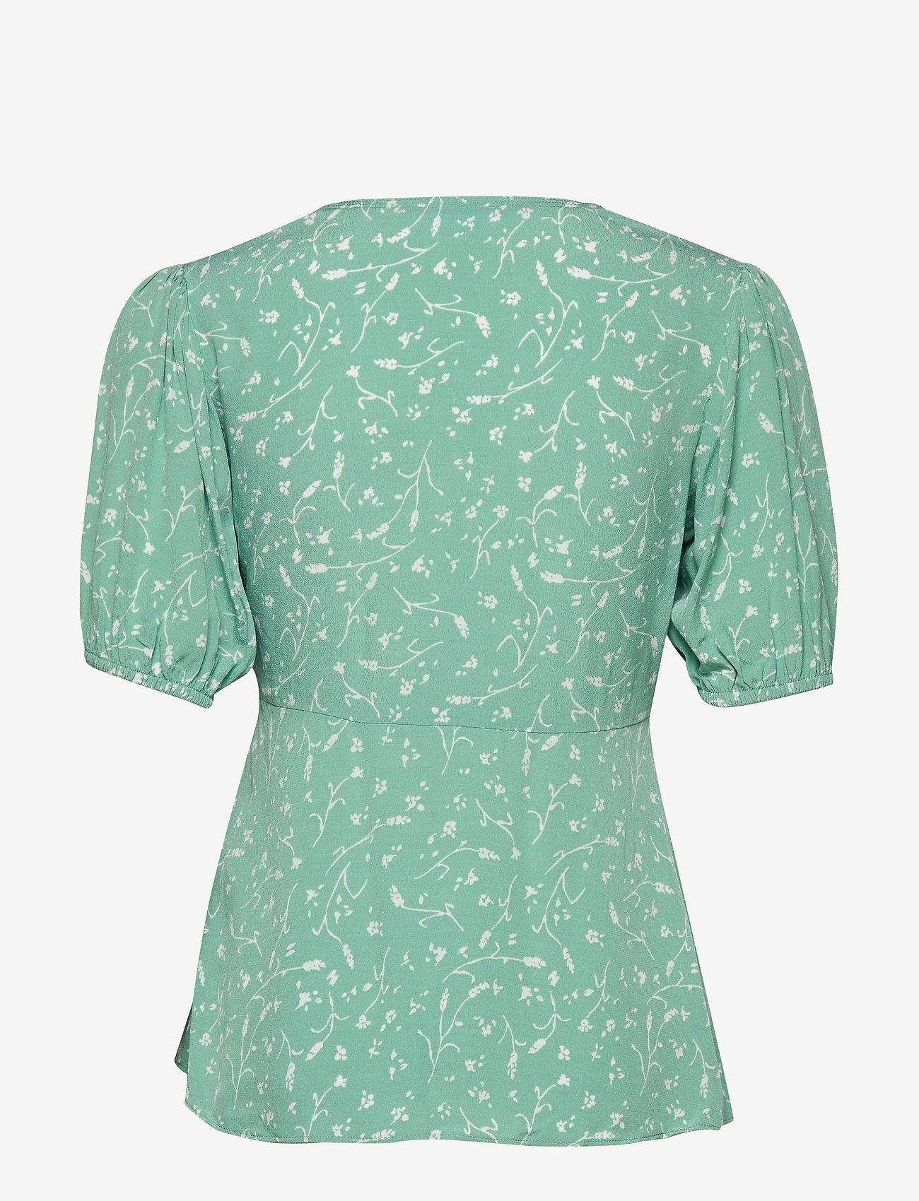 Samsøe Samsøe - Petunia ss blouse aop 10056 - blouses met korte mouwen - feuilles menthe - 1