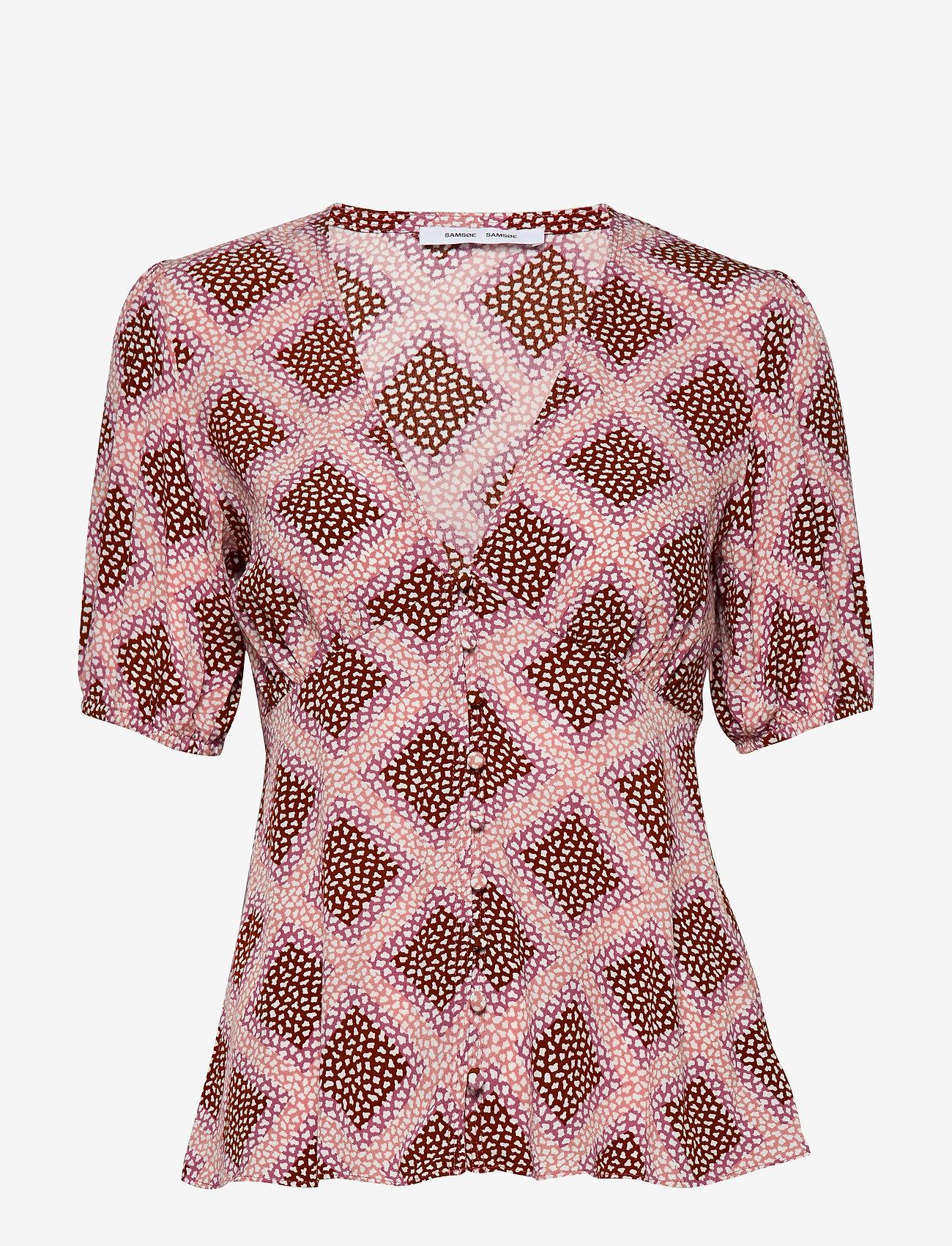 Samsøe Samsøe - Petunia ss blouse aop 10056 - blouses met korte mouwen - foulard - 0