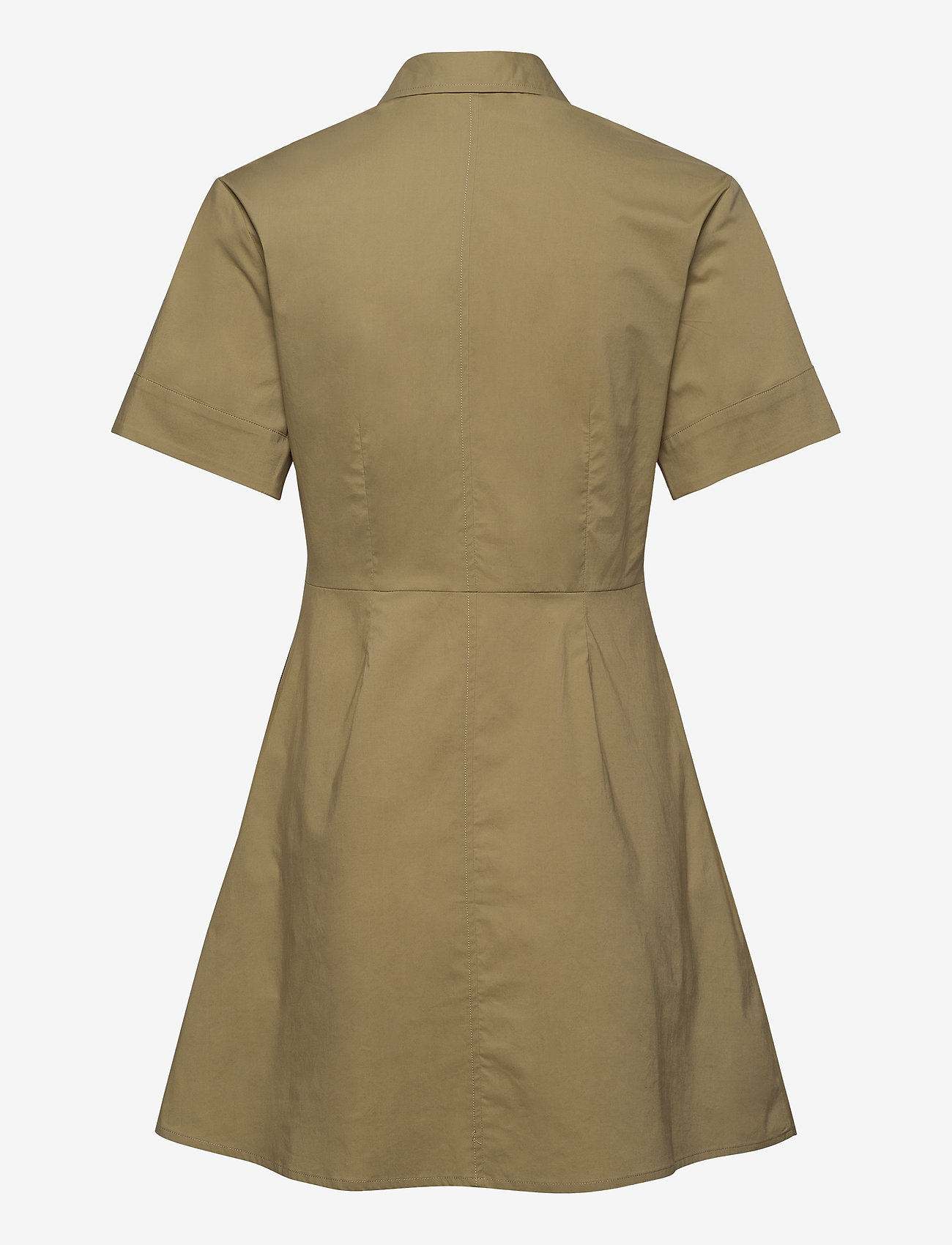 Samsøe Samsøe - Barbara short dress 10783 - skjortekjoler - olive grey - 1