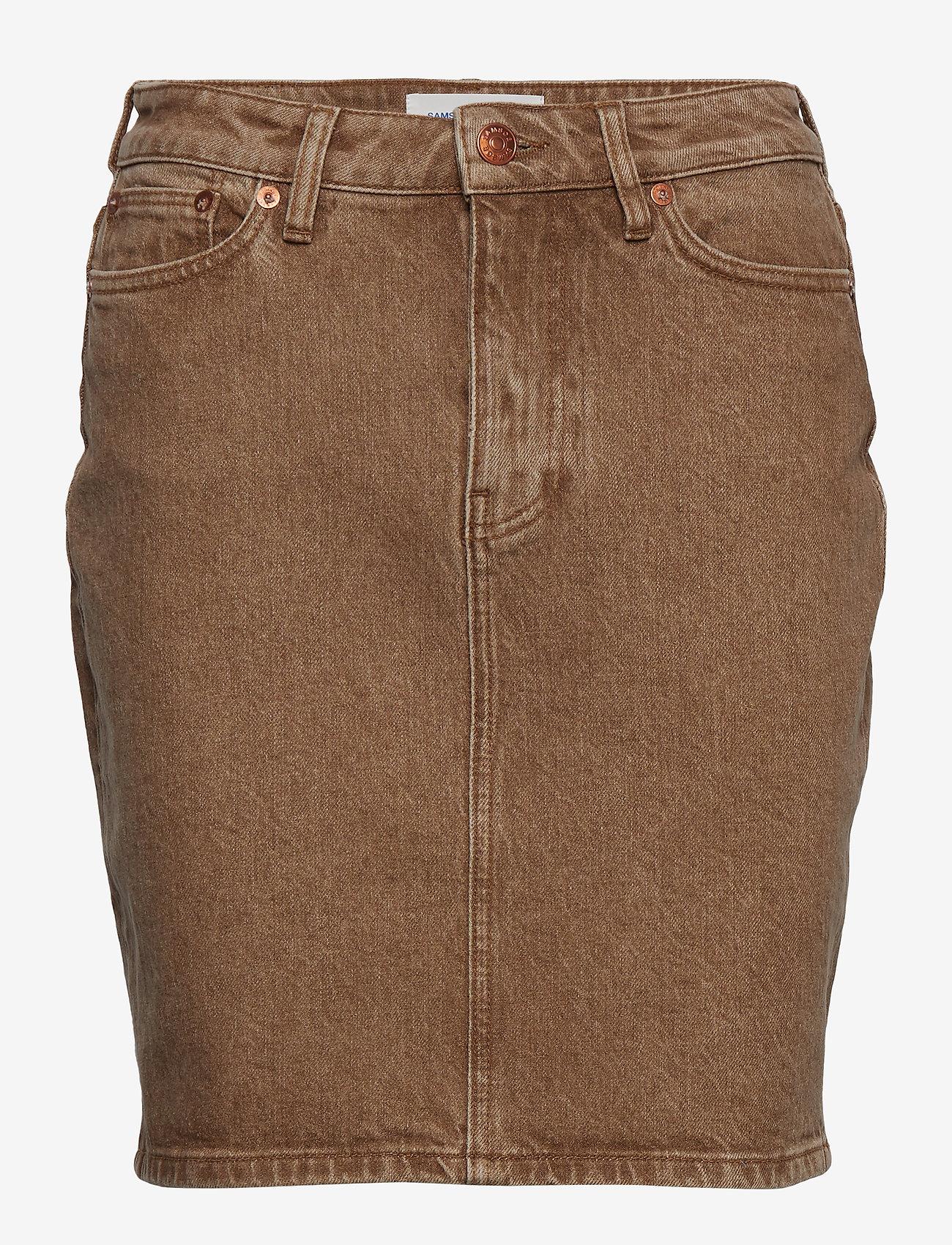 Samsøe Samsøe - Pamela skirt 12717 - jeansowe spódnice - wood - 0