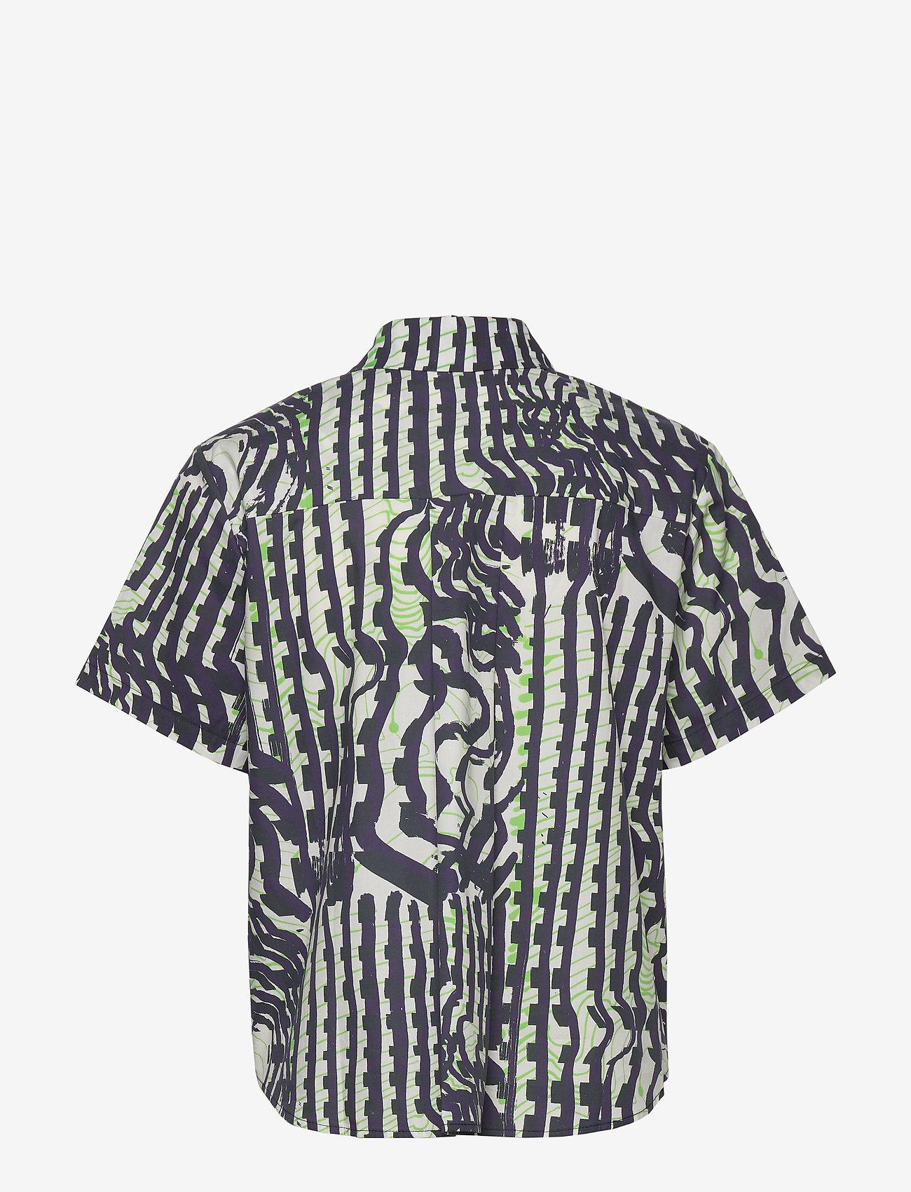 Samsøe Samsøe - Mina shirt ss aop 11332 - koszule z krótkim rękawem - seismograph - 1