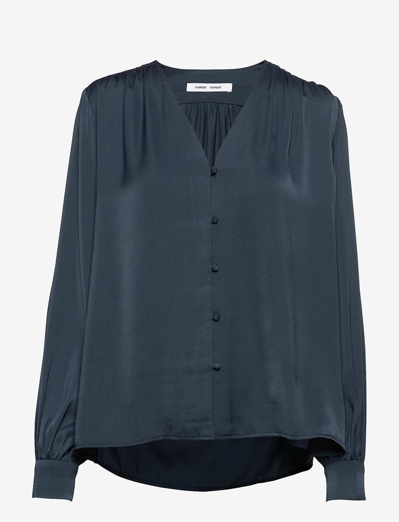 Samsøe Samsøe - Jetta shirt 12770 - långärmade blusar - midnight navy - 0