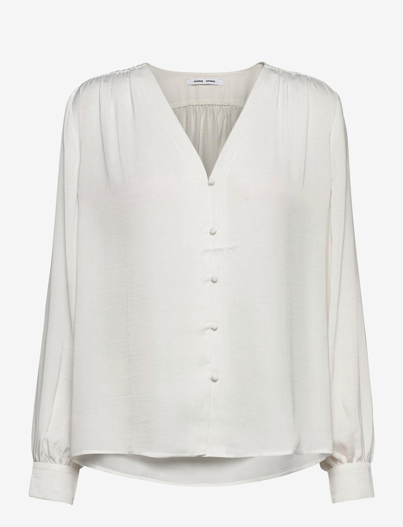 Samsøe Samsøe - Jetta shirt 12770 - långärmade blusar - whisper white - 0