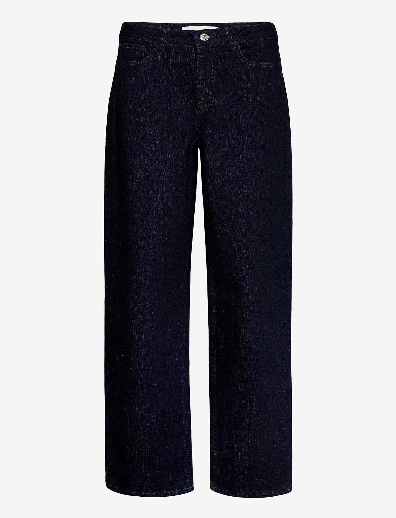 Samsøe Samsøe - Buibui trousers 12900 - broeken met wijde pijpen - indigo - 0