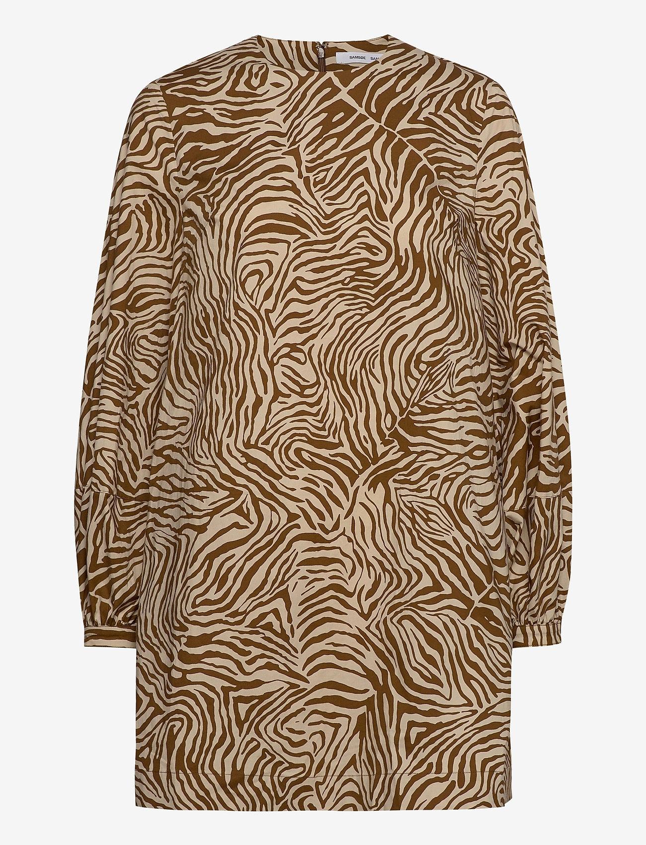 Samsøe Samsøe - Aram short dress aop 10783 - summer dresses - mountain zebra - 1