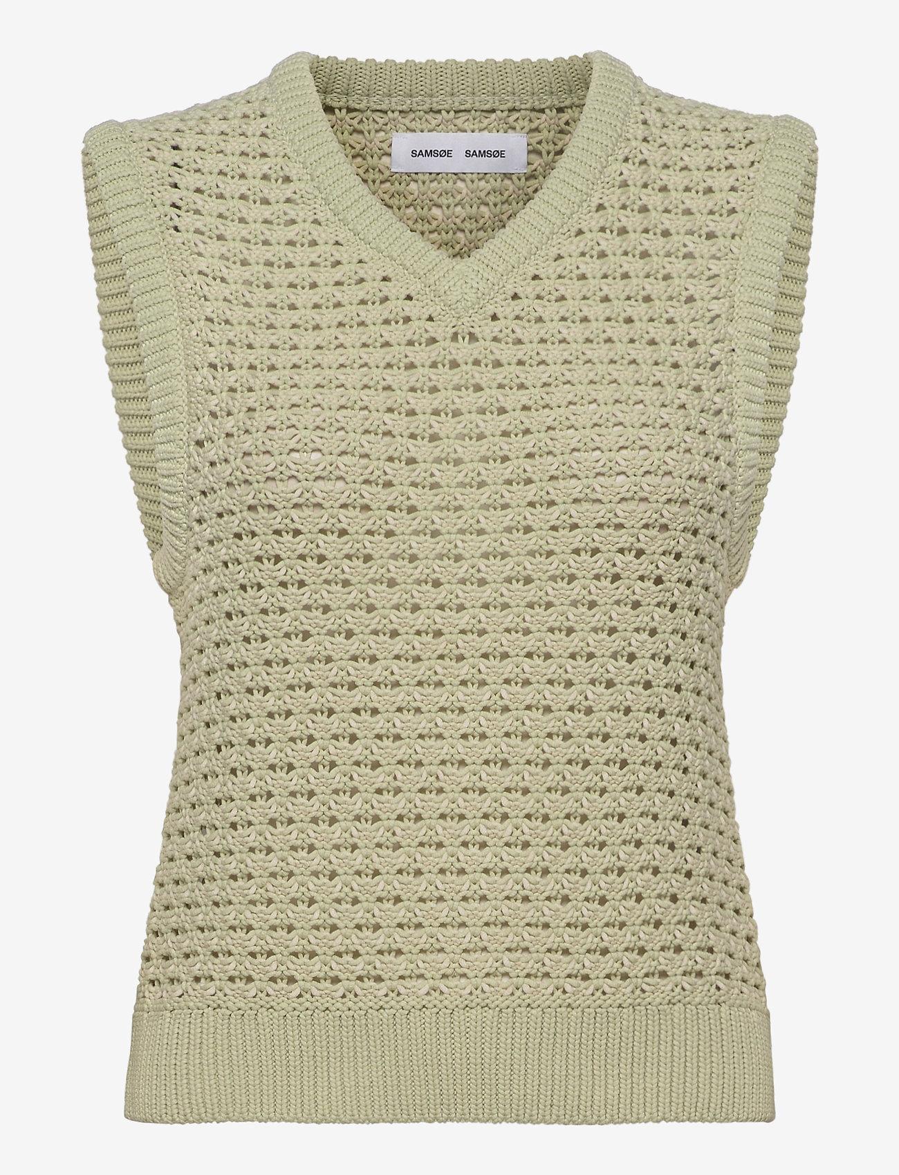 Samsøe Samsøe - Ella vest 12935 - knitted vests - fog green - 0