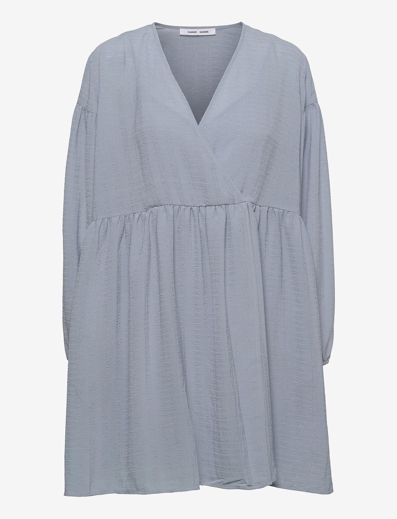 Samsøe Samsøe - Jolie short dress 12697 - summer dresses - dusty blue - 1