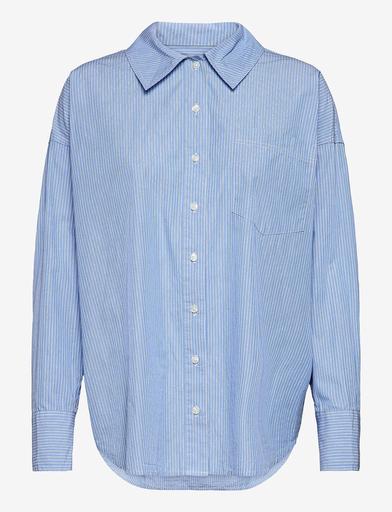 Samsøe Samsøe - Arielle shirt 11466 - langærmede skjorter - dusty blue st. - 0