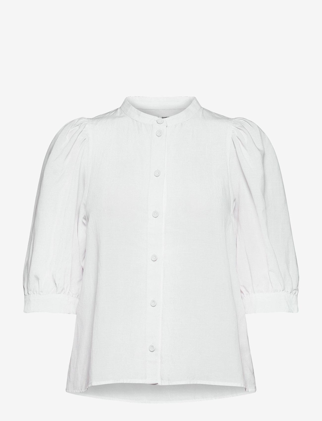 Samsøe Samsøe - Mejse shirt 12771 - kortærmede skjorter - bright white - 0