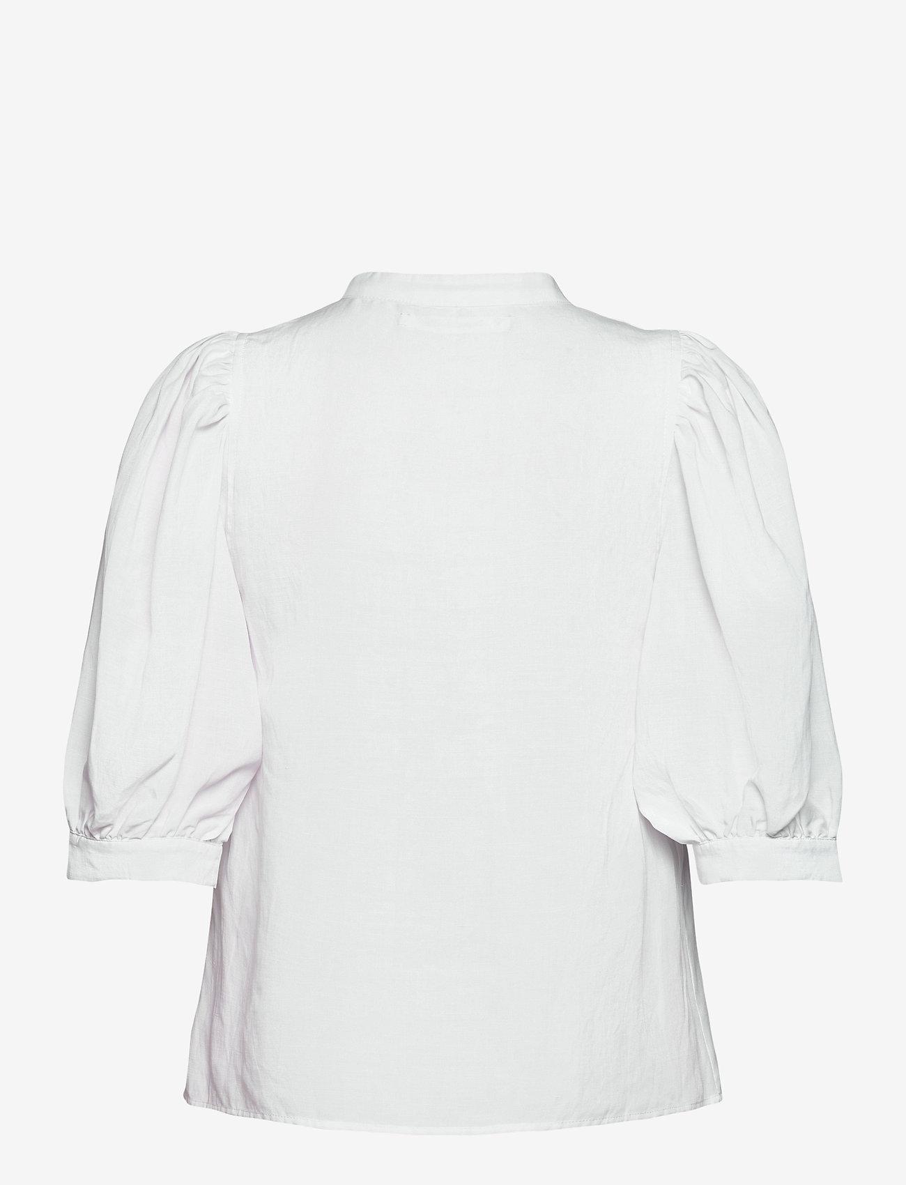 Samsøe Samsøe - Mejse shirt 12771 - kortærmede skjorter - bright white - 1