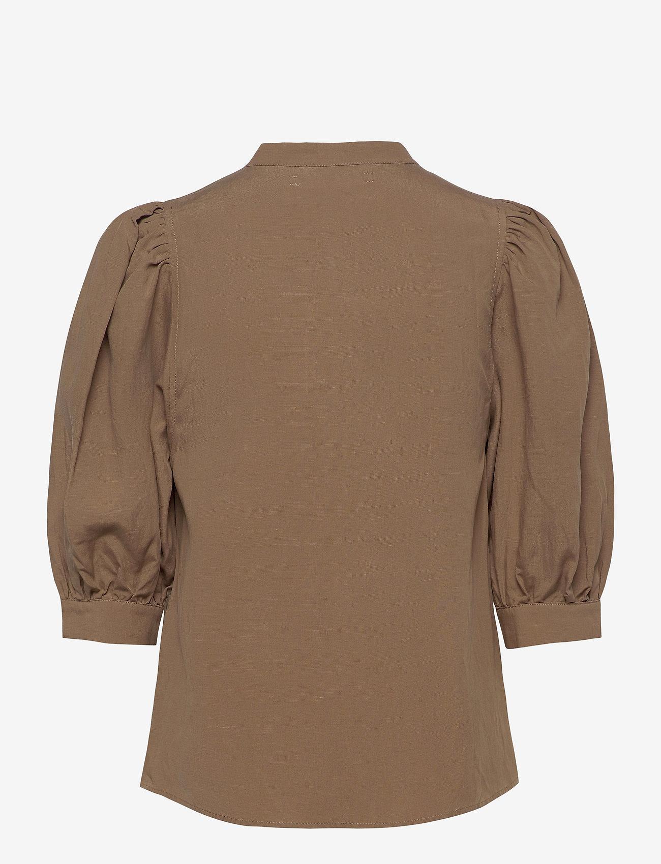 Samsøe Samsøe - Mejse shirt 12771 - denimskjorter - caribou - 1