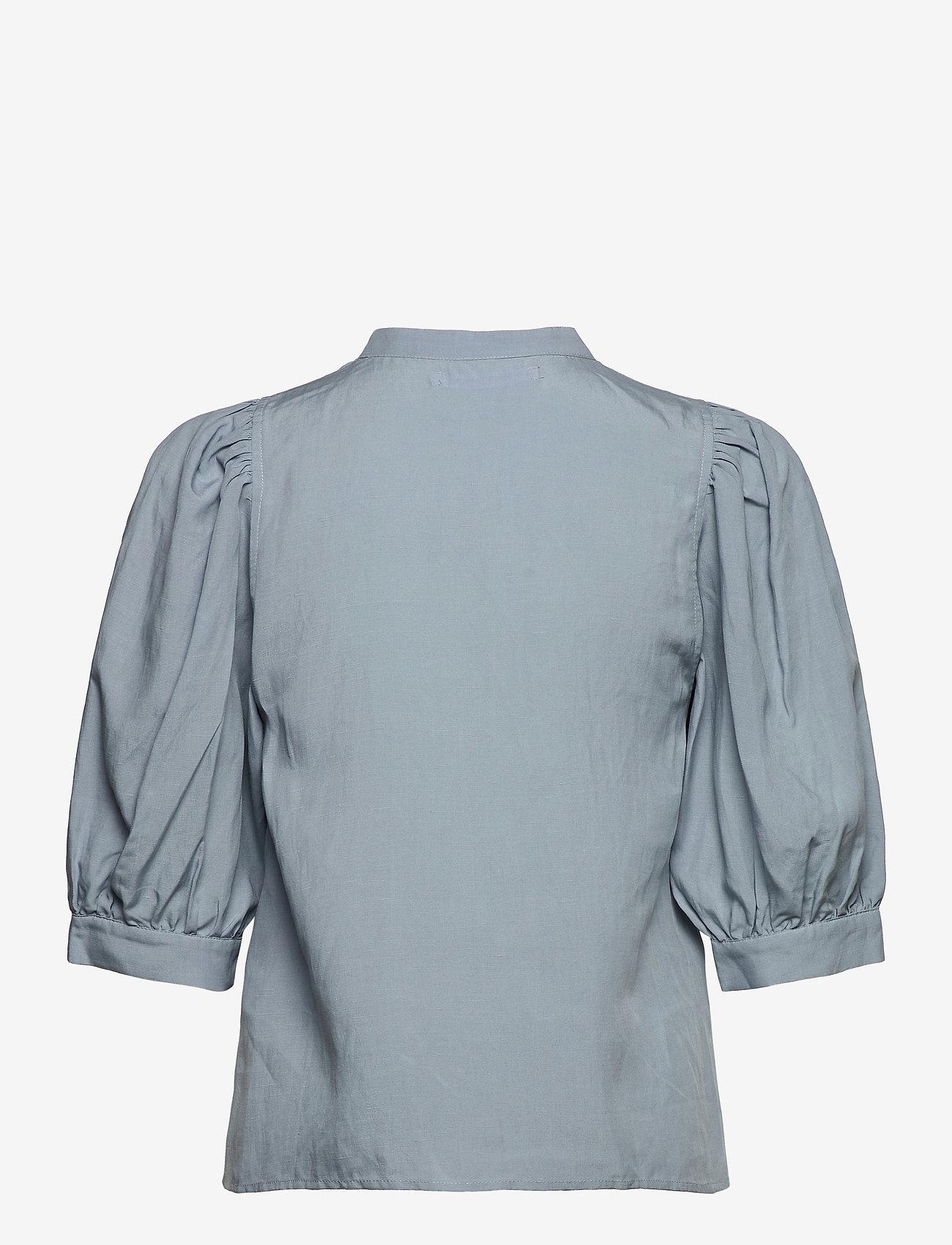 Samsøe Samsøe - Mejse shirt 12771 - kortærmede skjorter - dusty blue - 2
