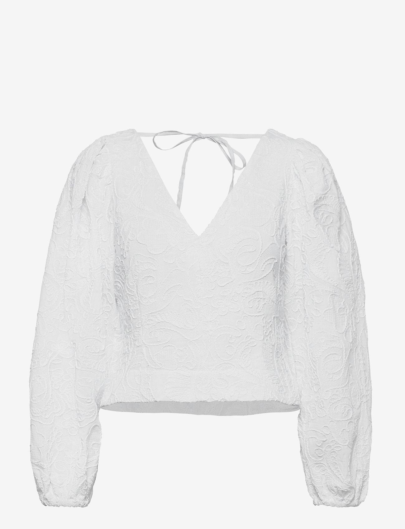 Samsøe Samsøe - Anai blouse 13089 - long sleeved blouses - bright white - 1