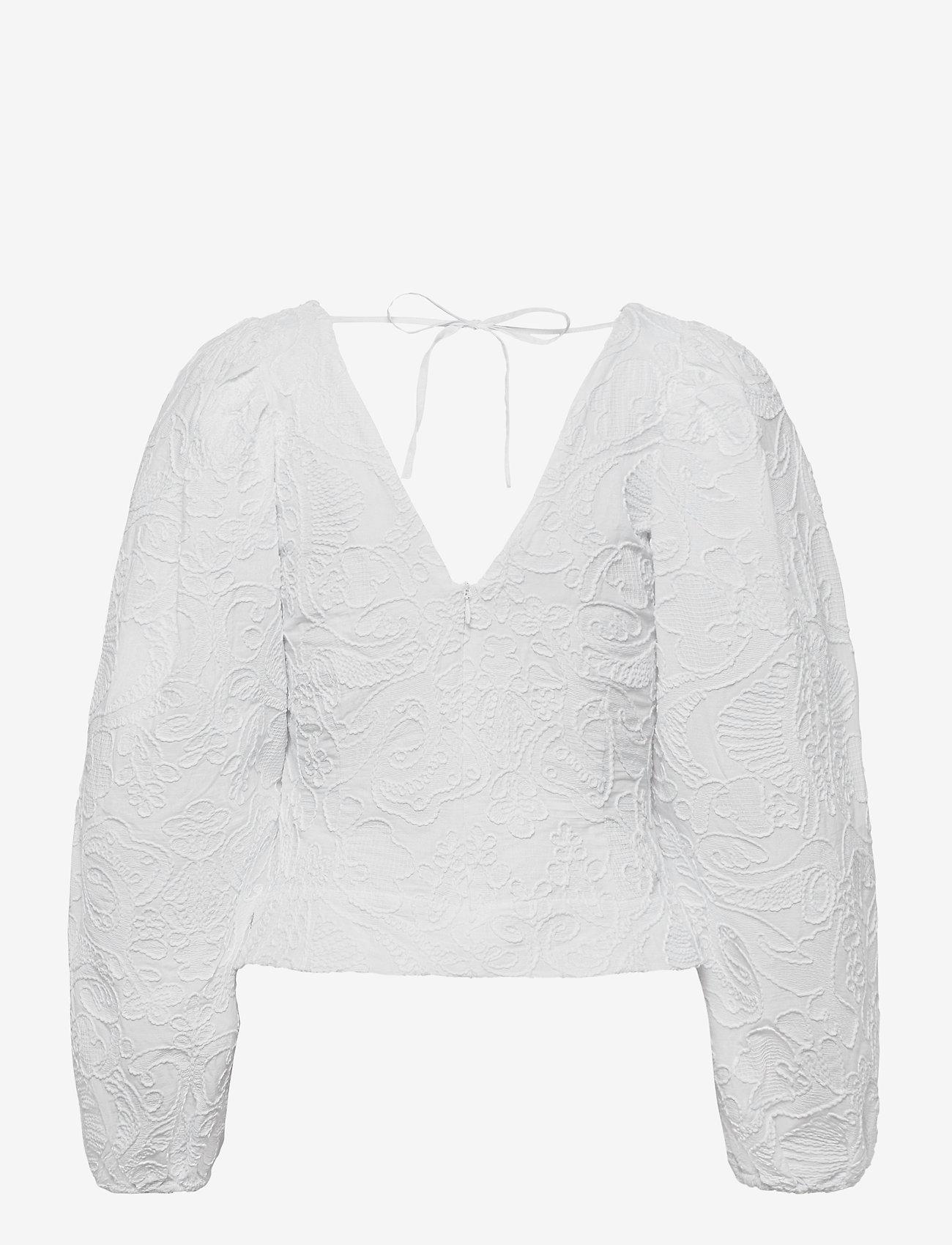 Samsøe Samsøe - Anai blouse 13089 - long sleeved blouses - bright white - 2