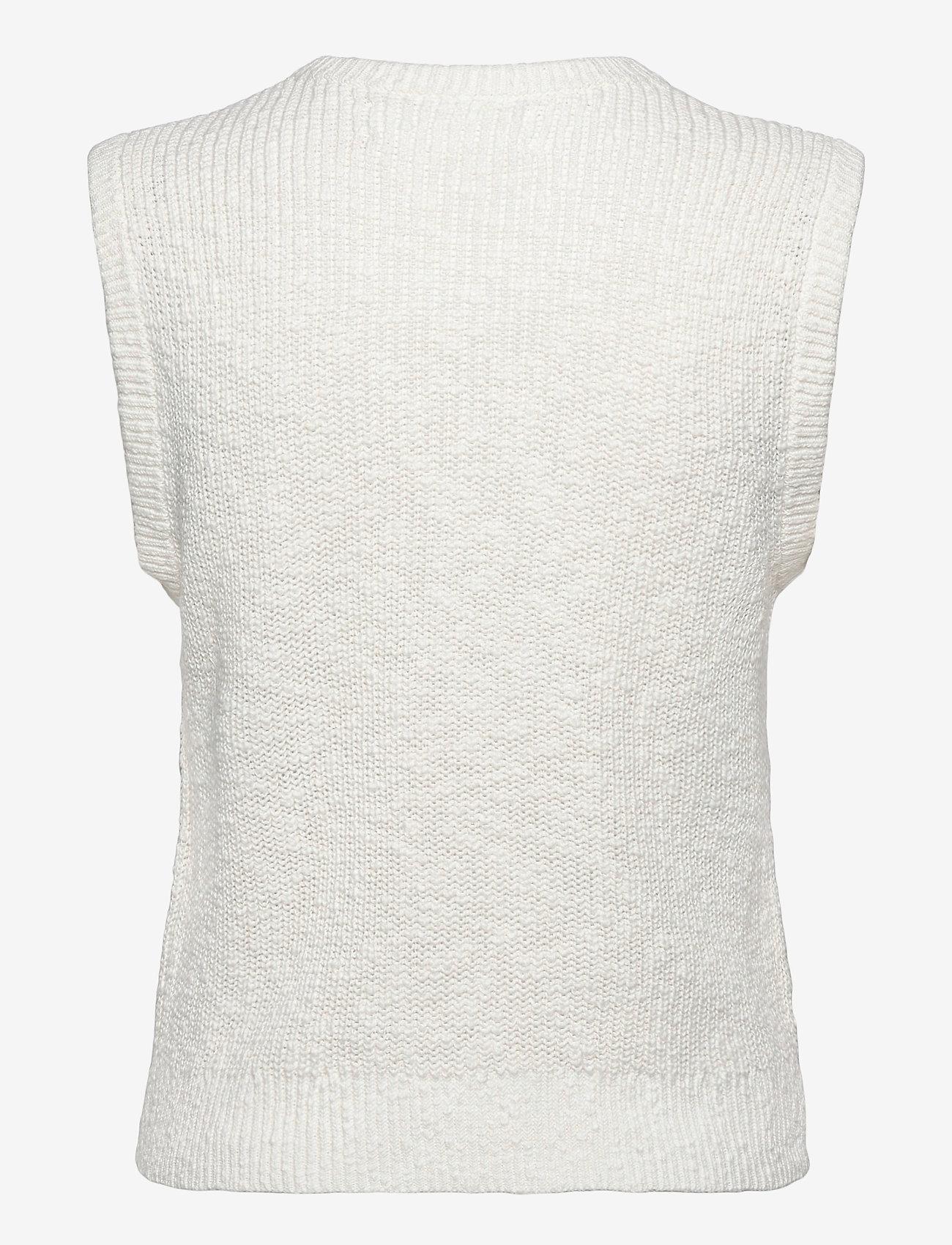 Samsøe Samsøe - Zoey vest 13996 - knitted vests - antique white - 2