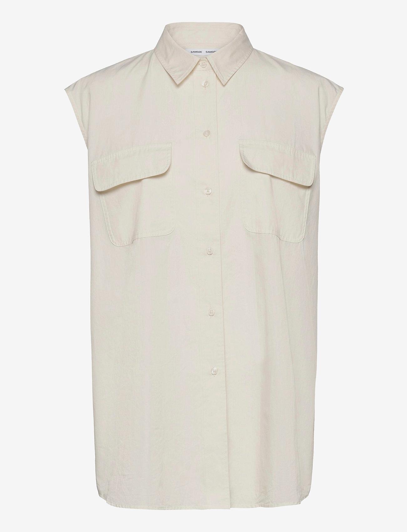 Samsøe Samsøe - Tea shirt top 11466 - denim shirts - antique white - 1