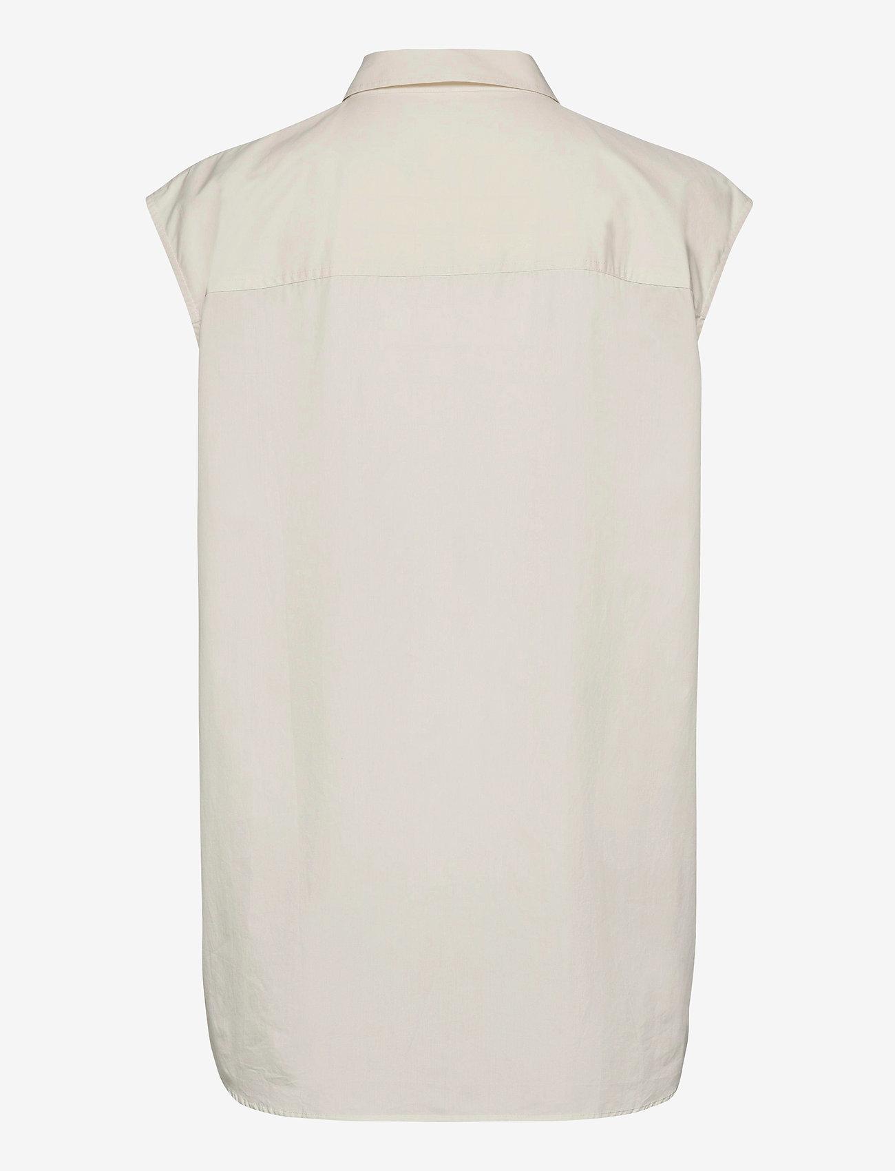 Samsøe Samsøe - Tea shirt top 11466 - denim shirts - antique white - 2